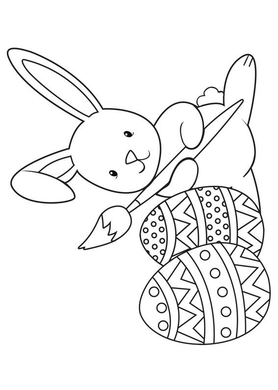 Disegni di coniglietti Pasquali da colorare 12