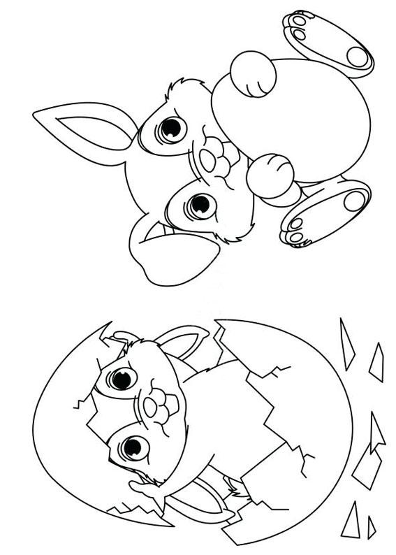 Disegni di coniglietti Pasquali da colorare 13