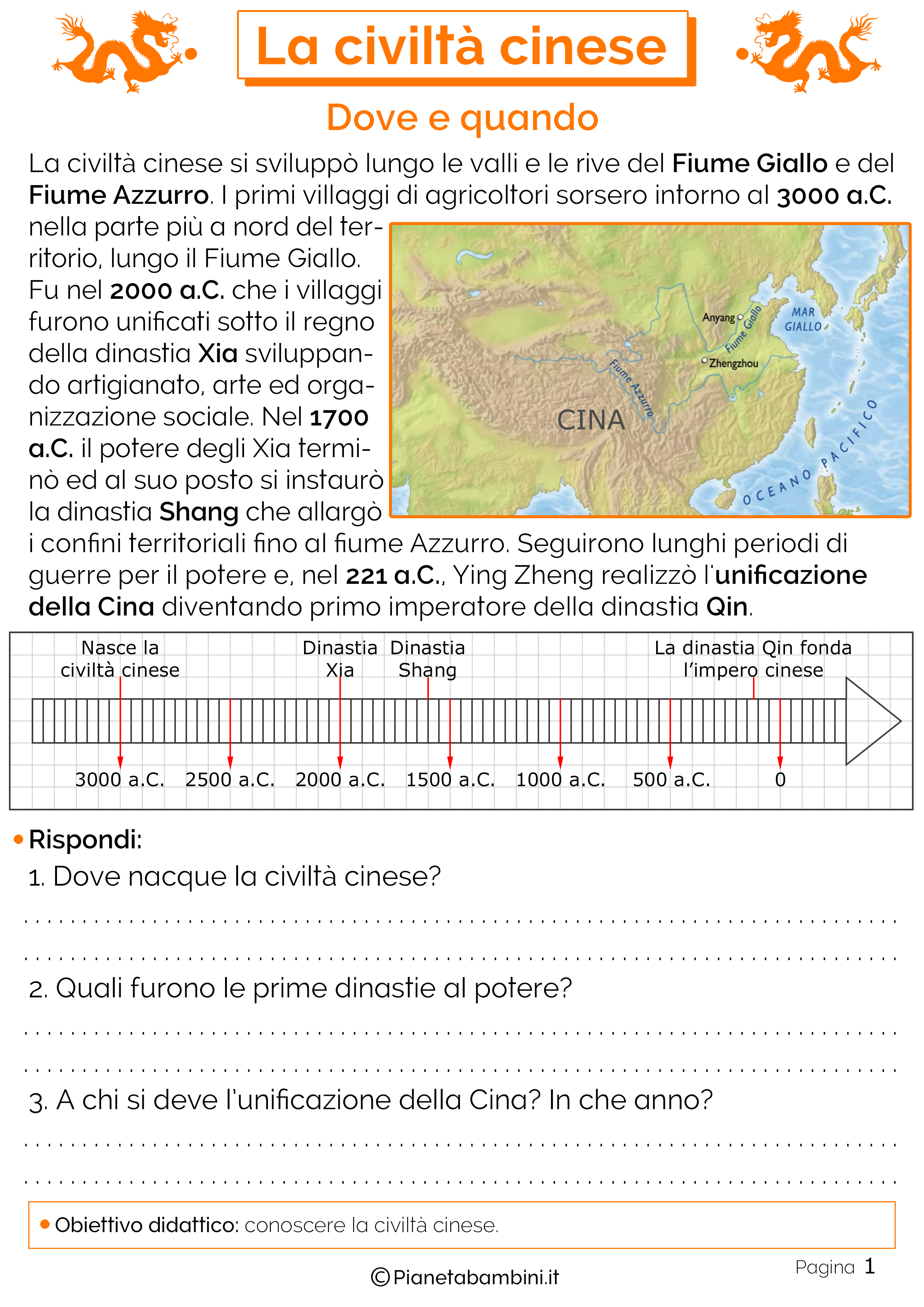 Dove si sviluppò la civiltà cinese