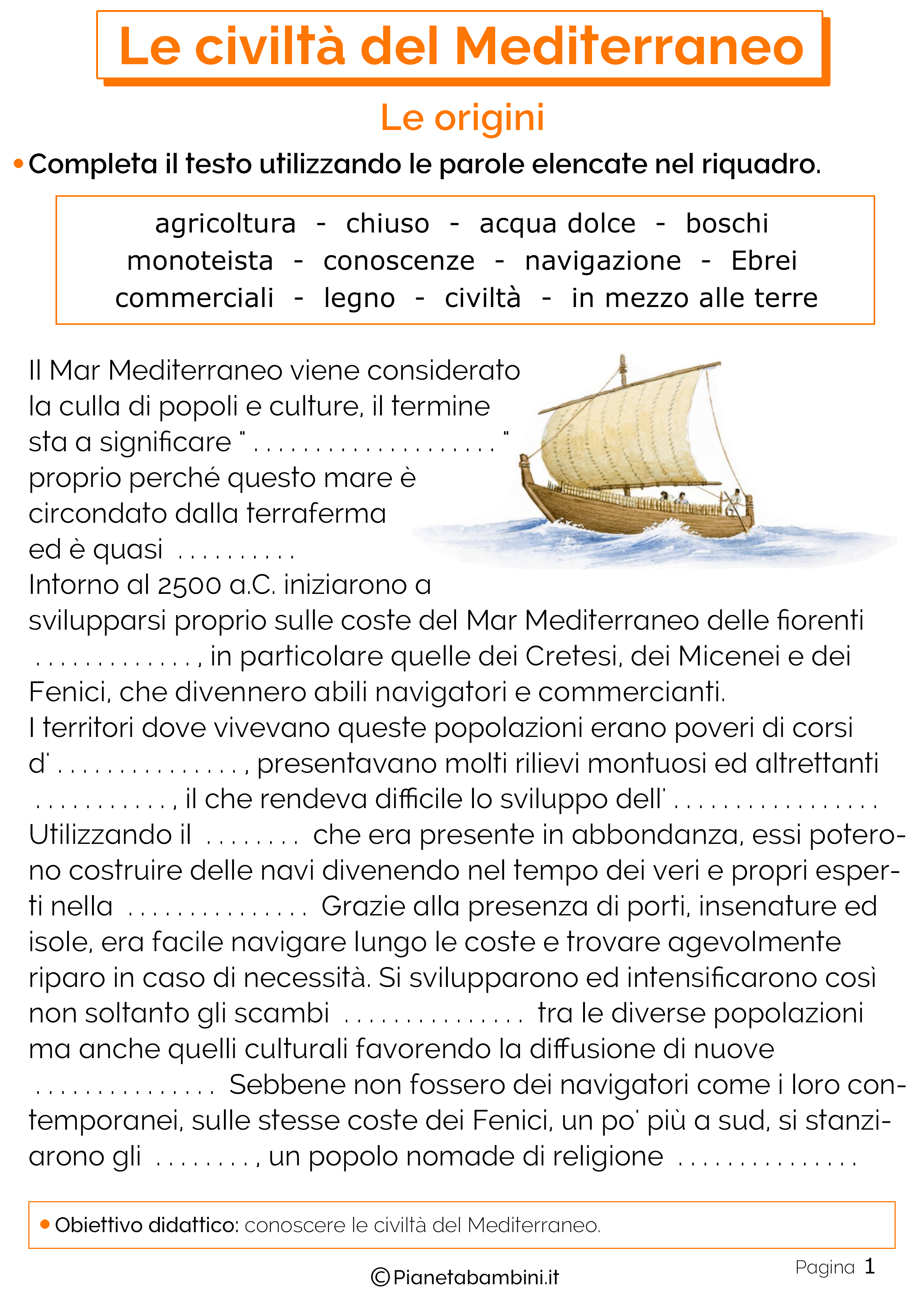 Origini e sviluppo delle civiltà del Mediterraneo