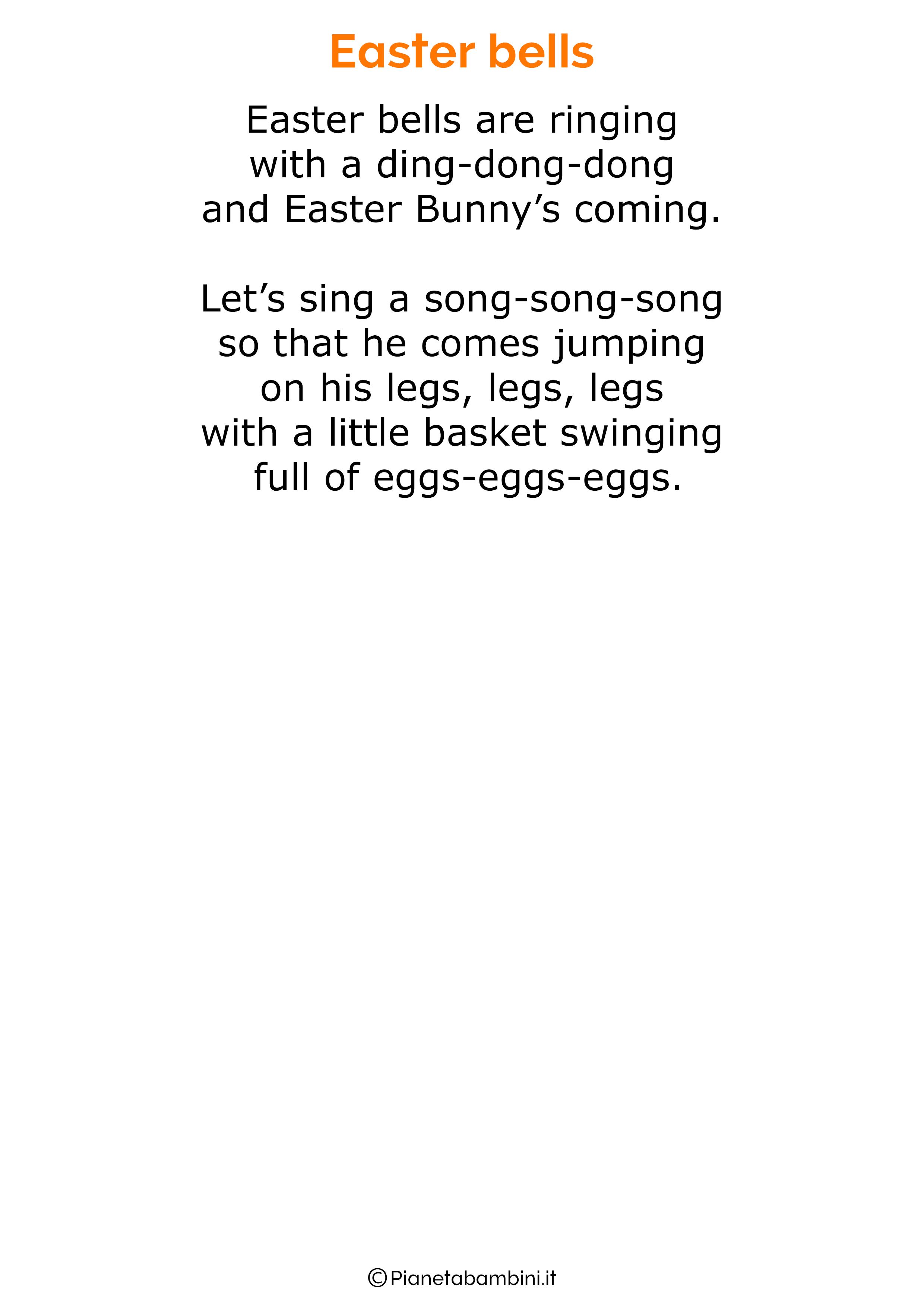 Poesie di Pasqua in inglese per bambini 03