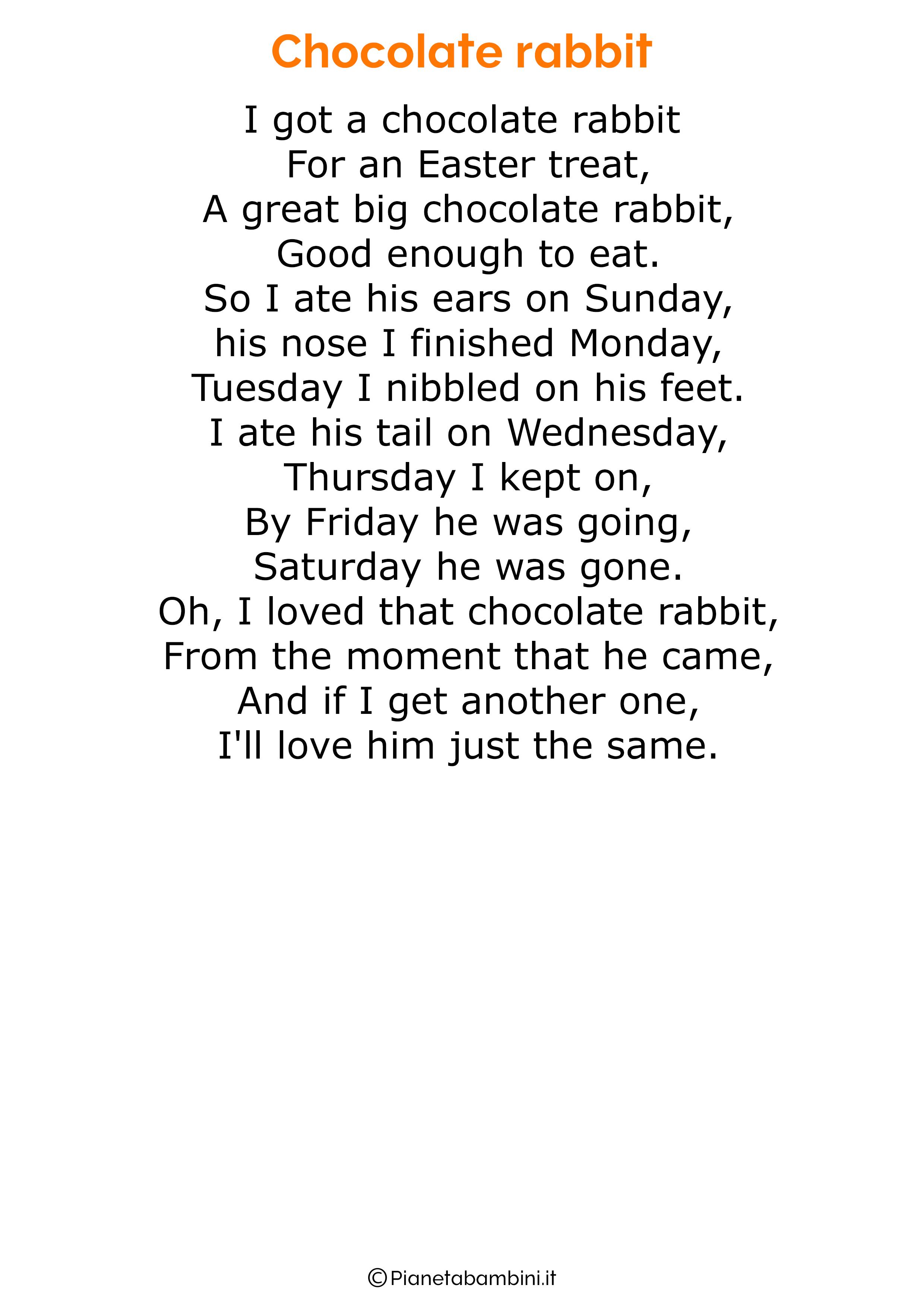 Poesie di Pasqua in inglese per bambini 09
