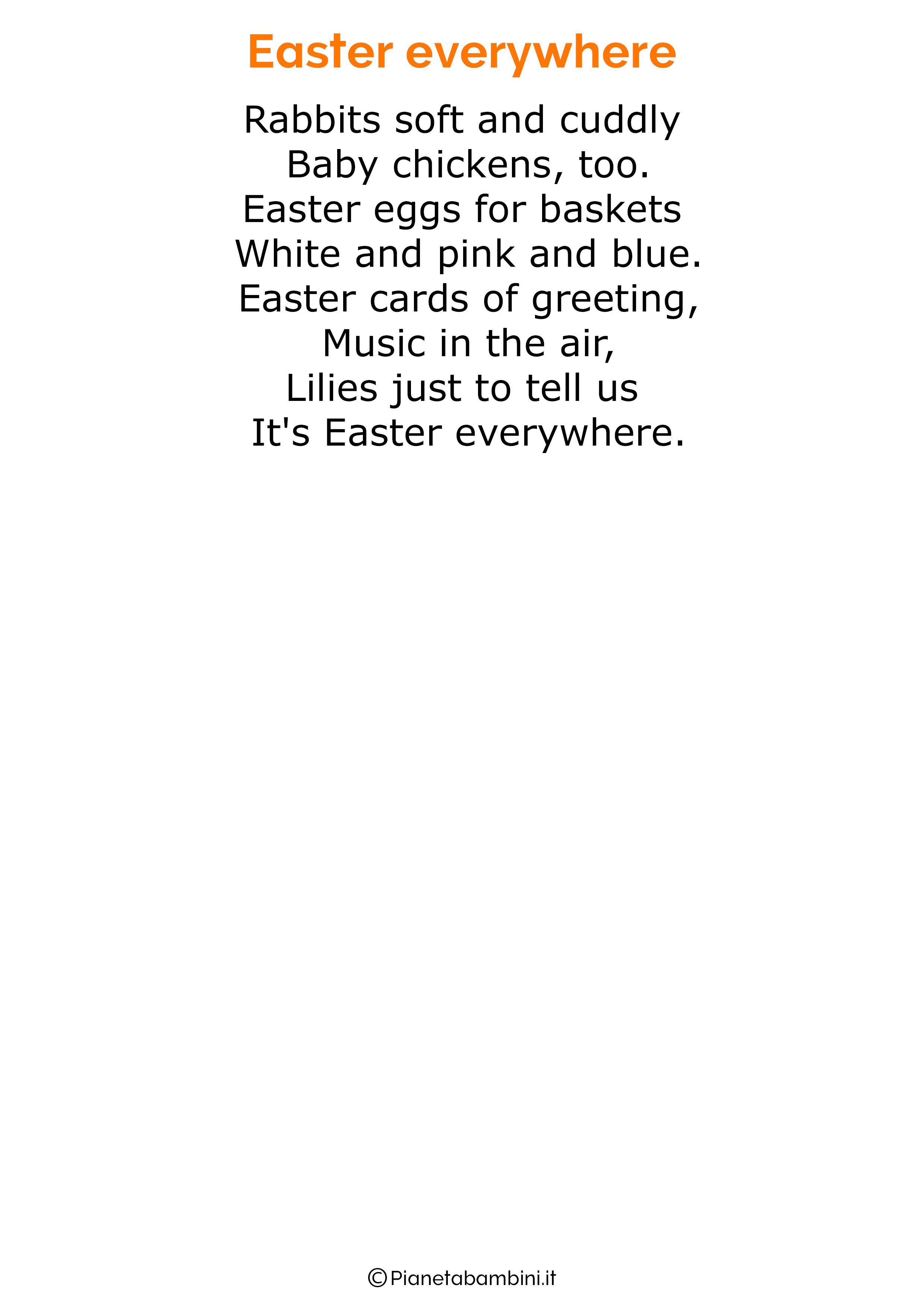 Poesie di Pasqua in inglese per bambini 19