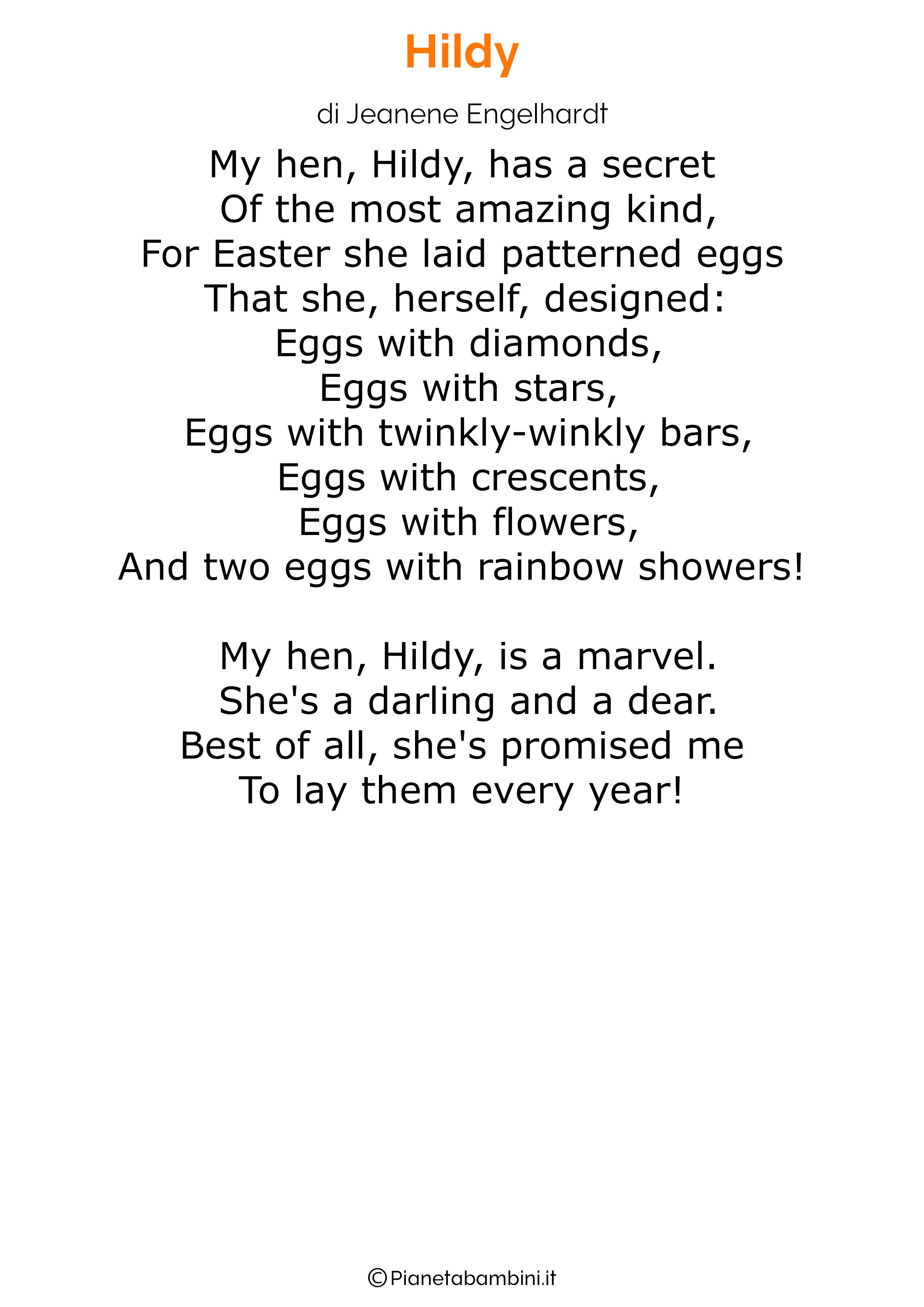 Poesie di Pasqua in inglese per bambini 27