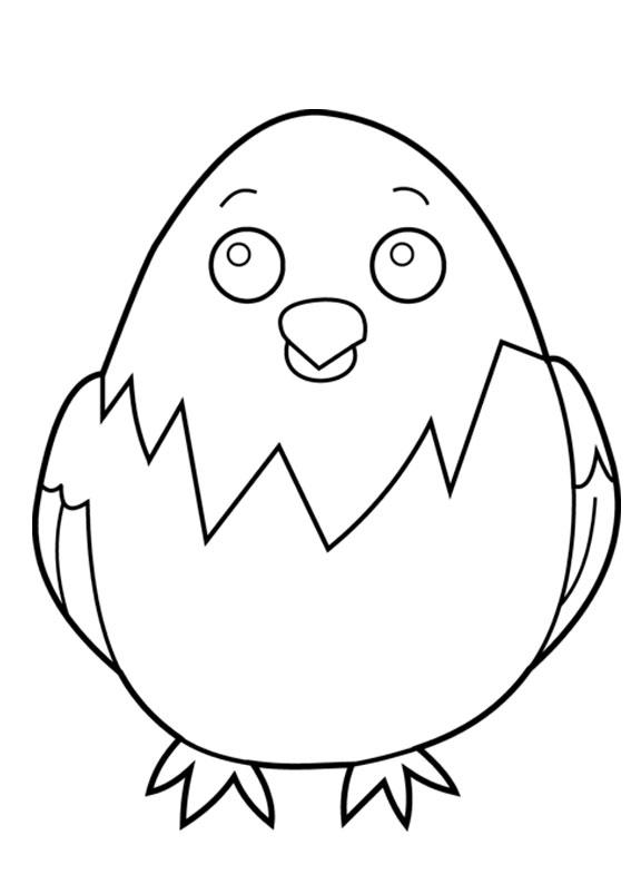 Disegni di pulcini Cartoon da colorare 03