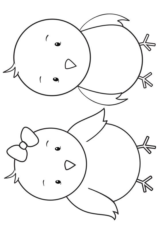 Disegni di pulcini Cartoon da colorare 05