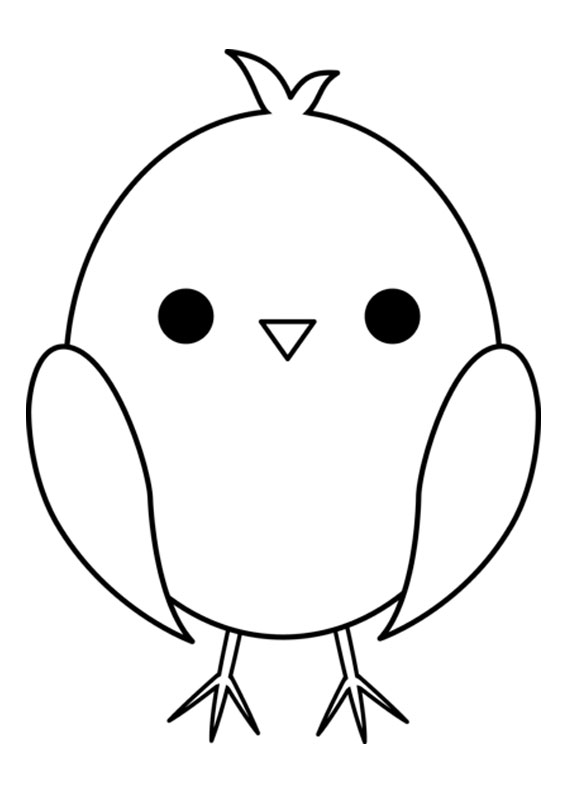 Disegni di pulcini Cartoon da colorare 06