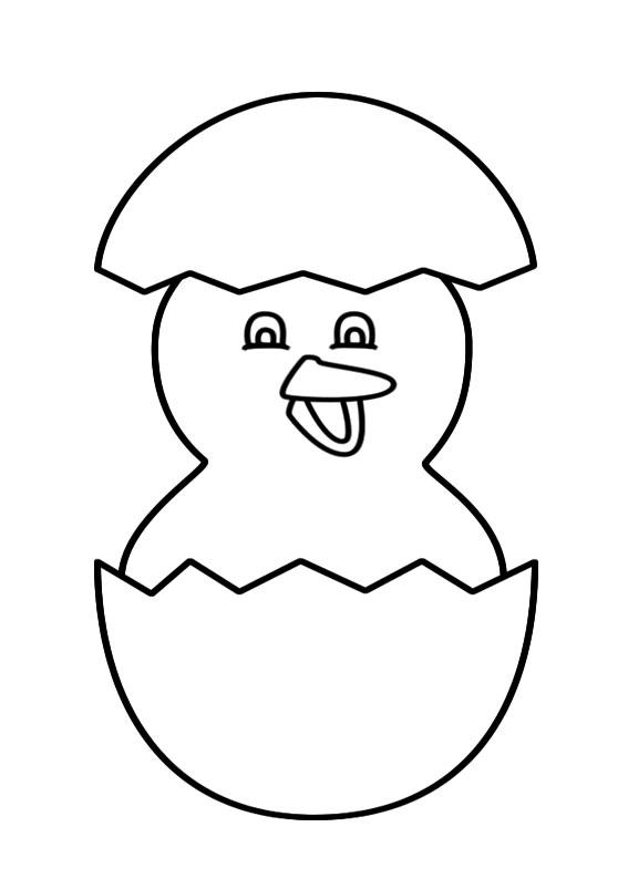Disegni di pulcini Cartoon da colorare 09