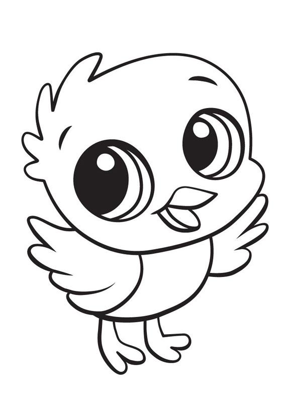 Disegni di pulcini Cartoon da colorare 10