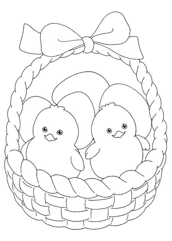 Disegni di Pulcini Pasquali da colorare 03