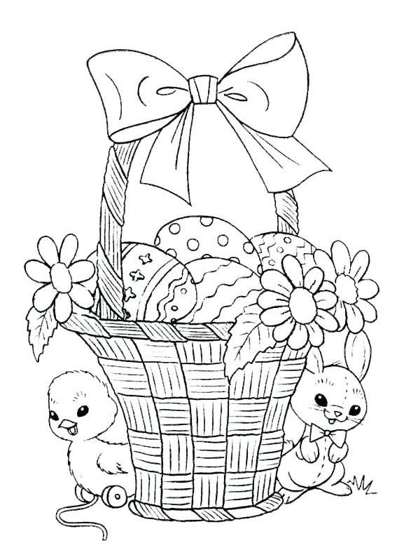 Disegni di Pulcini Pasquali da colorare 04