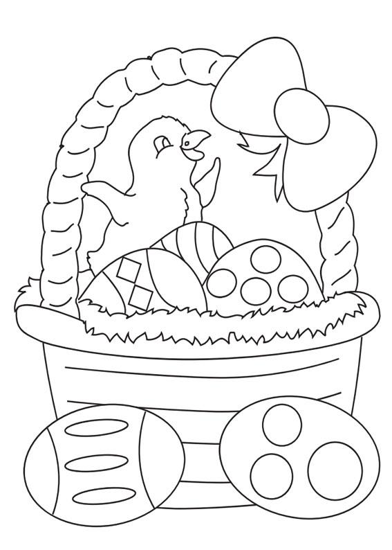 Disegni di Pulcini Pasquali da colorare 05
