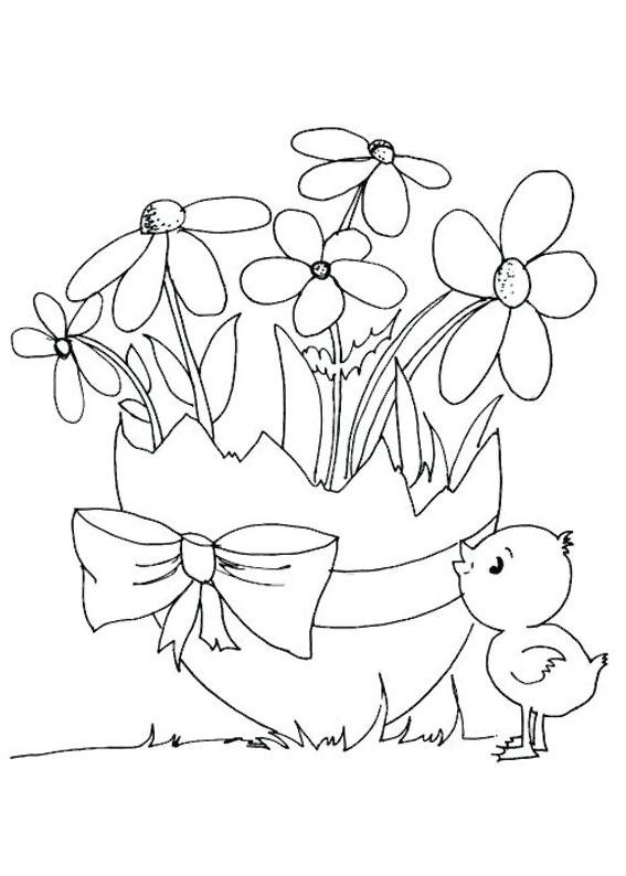 Disegni di Pulcini Pasquali da colorare 06