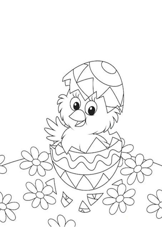 Disegni di Pulcini Pasquali da colorare 07