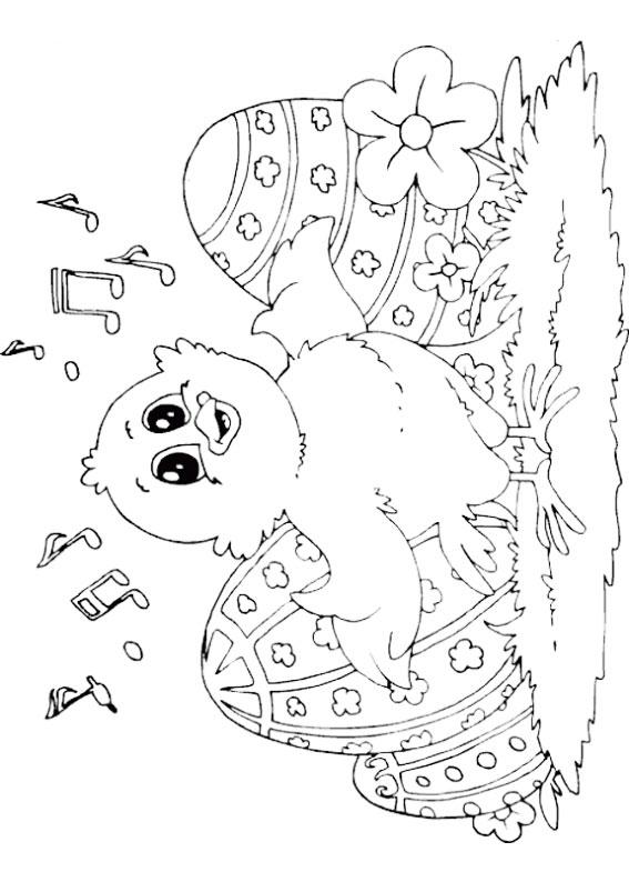 Disegni di Pulcini Pasquali da colorare 10