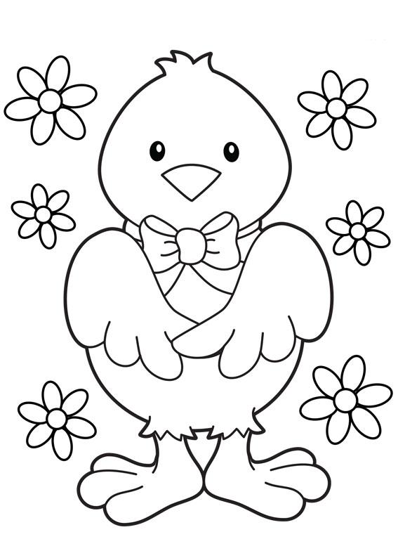 Disegni di Pulcini Pasquali da colorare 12