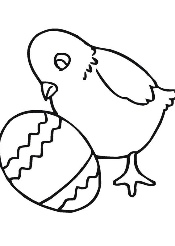 Disegni di Pulcini Pasquali da colorare 13
