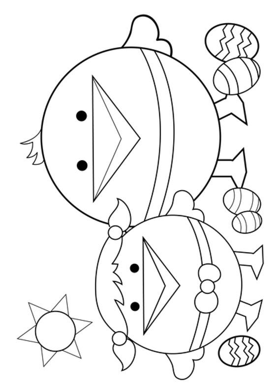 Disegni di Pulcini Pasquali da colorare 15