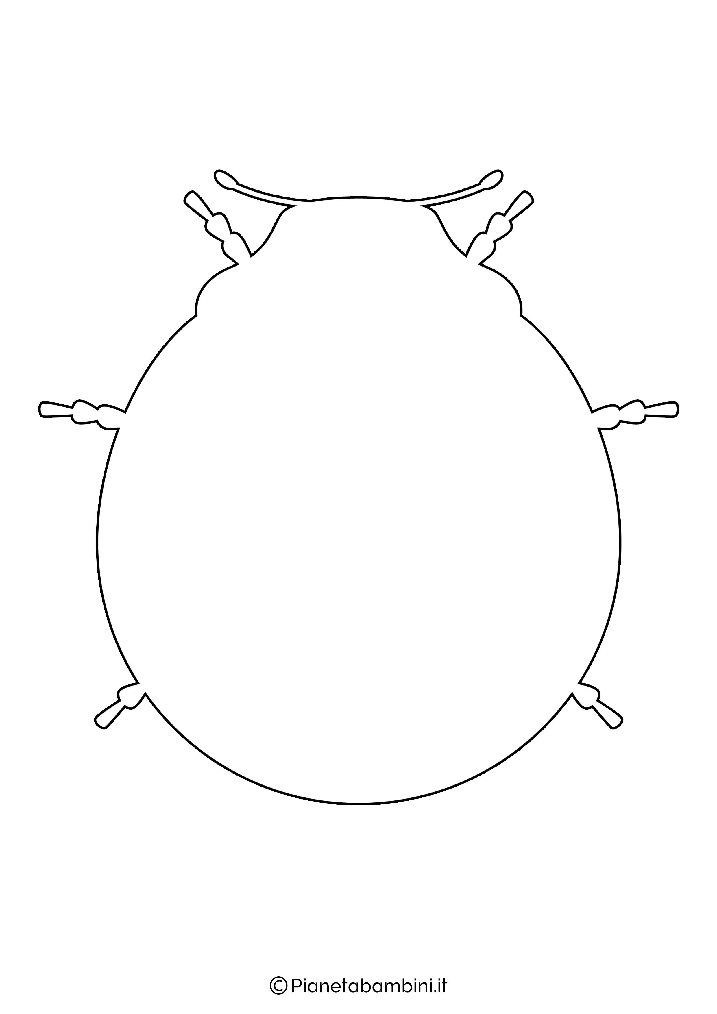 Disegno coccinella grande 7