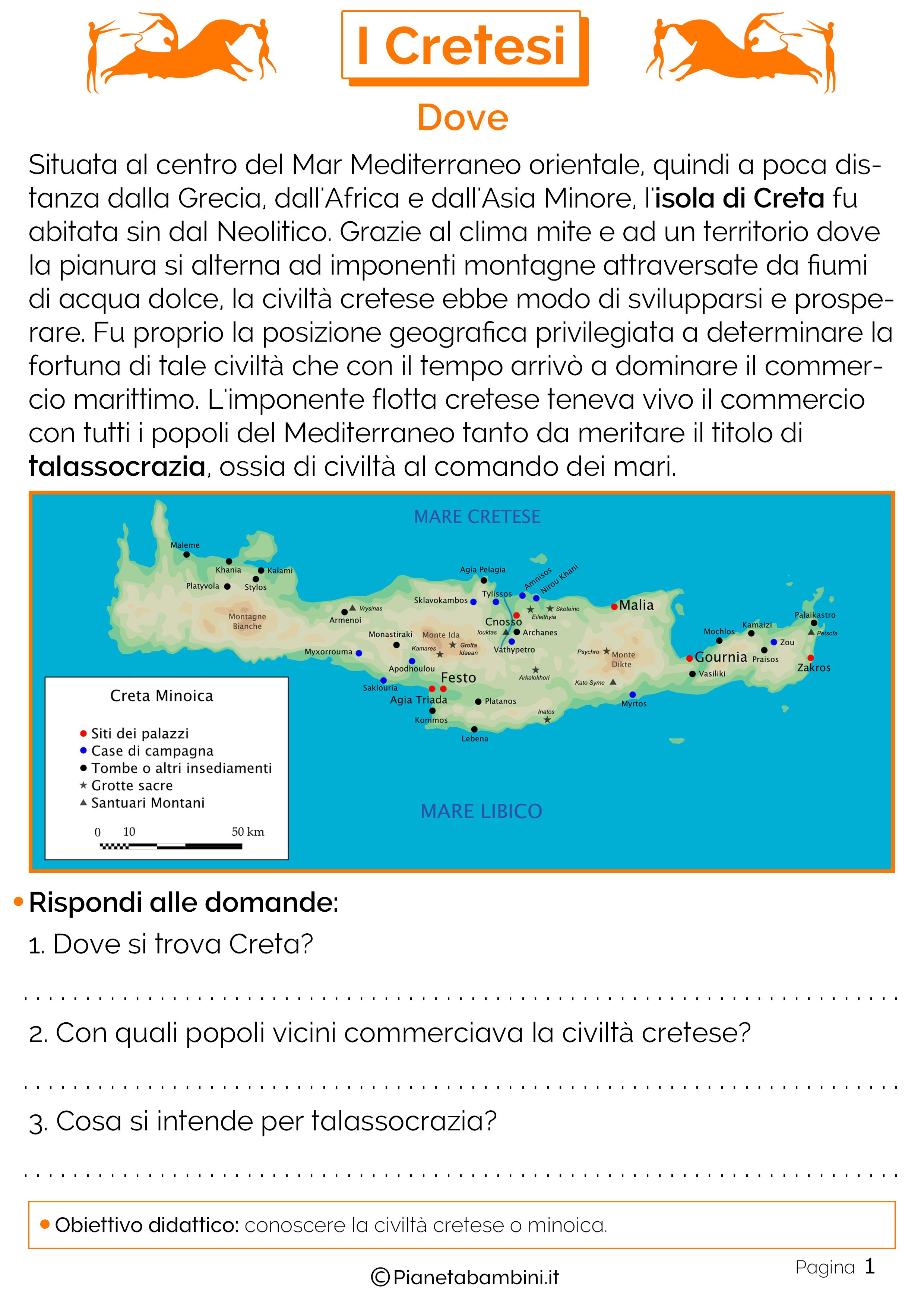 Mappa civiltà minoica