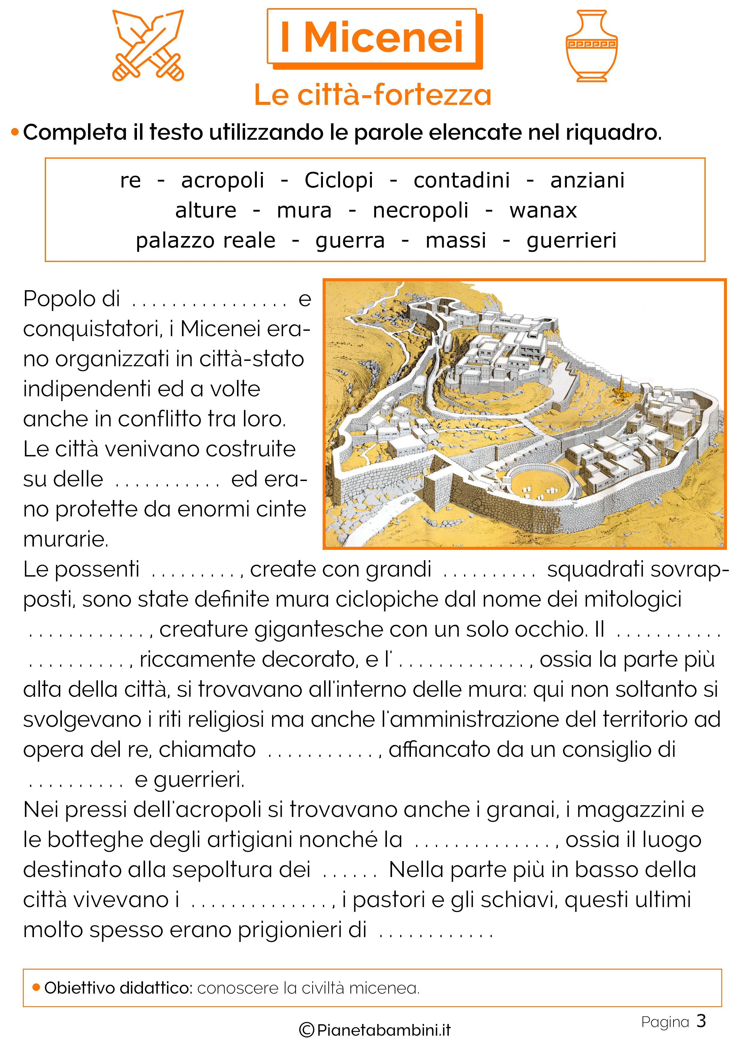 Le città-fortezza della civiltà micenea