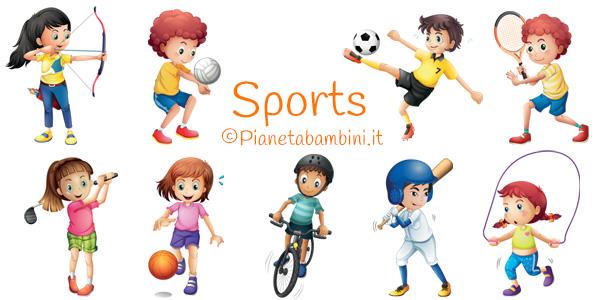 Gli sport in inglese esercizi e flashcard