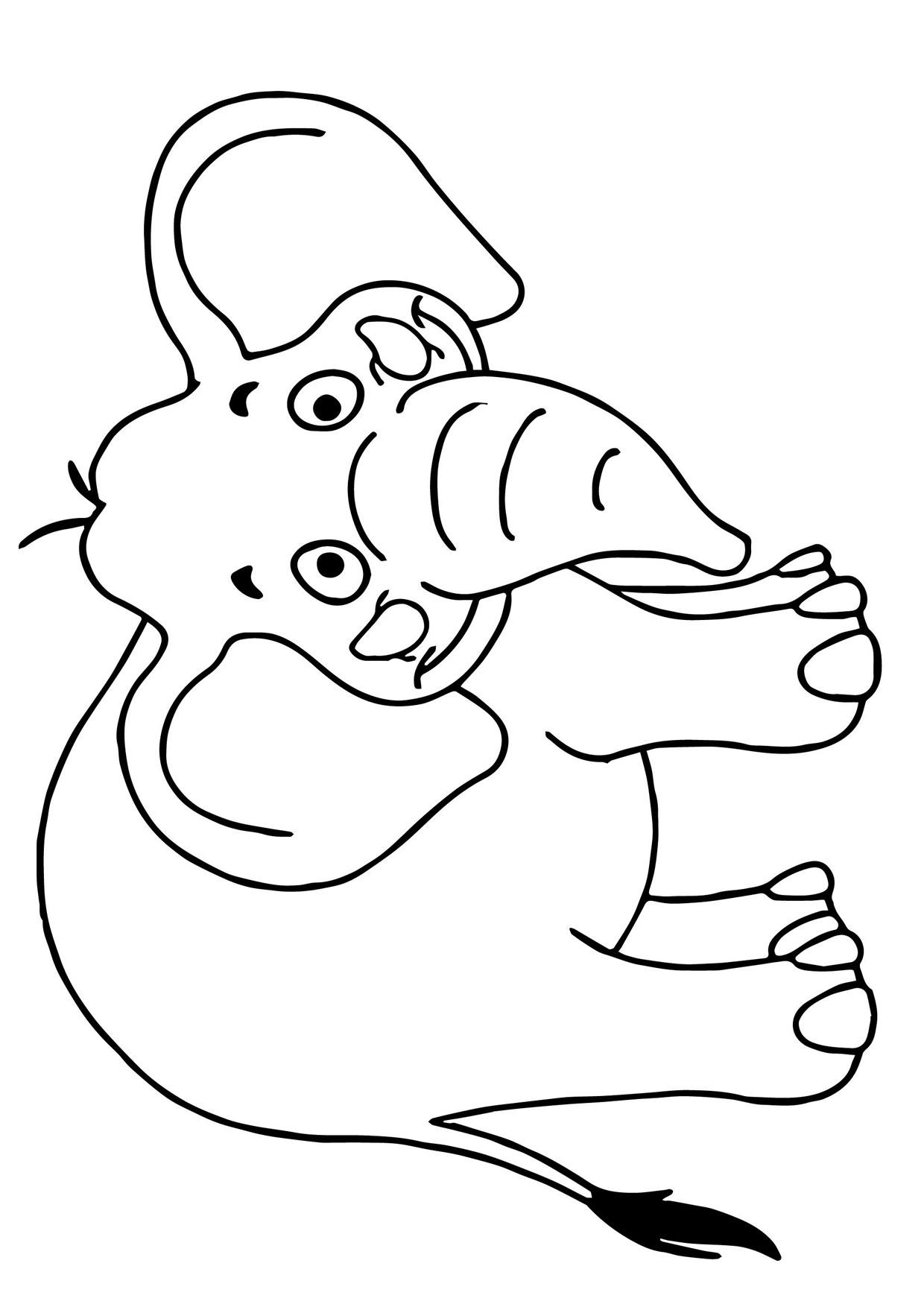 Disegno di Elefante Cartoon da colorare 10
