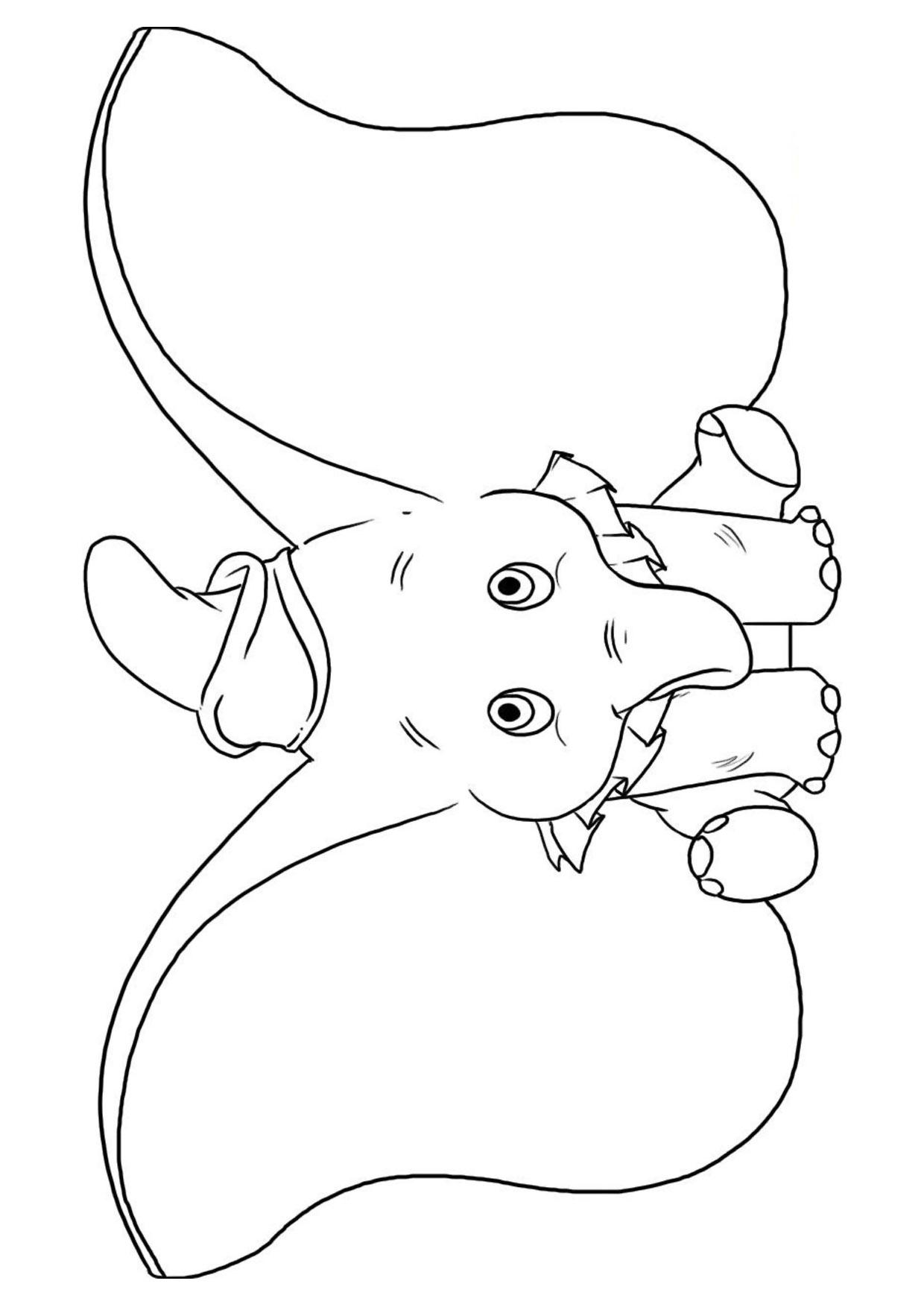 Disegno di Elefante Cartoon da colorare 11