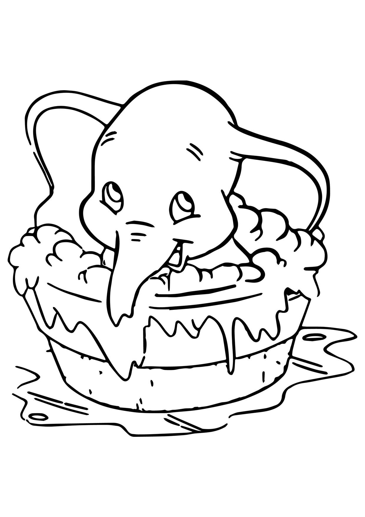 Disegno di Elefante Cartoon da colorare 13