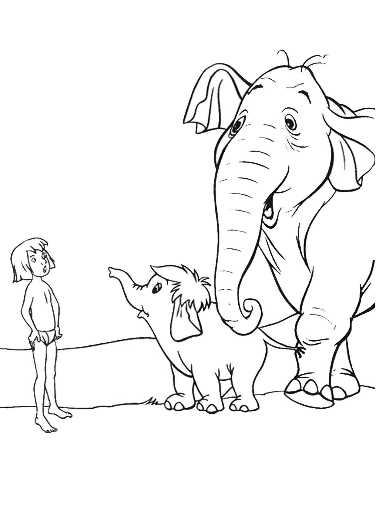 Disegno di Elefante Cartoon da colorare 15