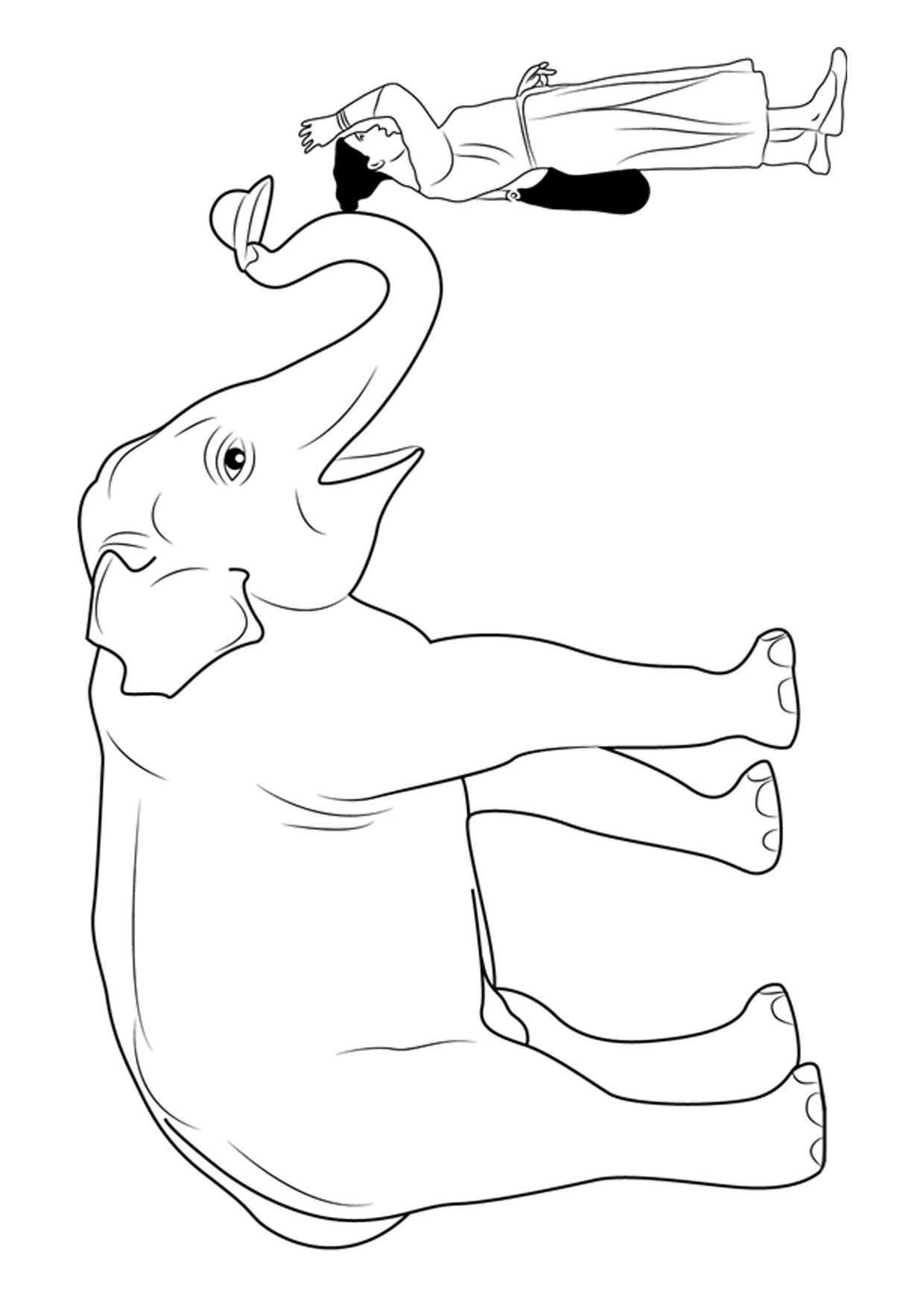 Disegno di elefanti da colorare 15