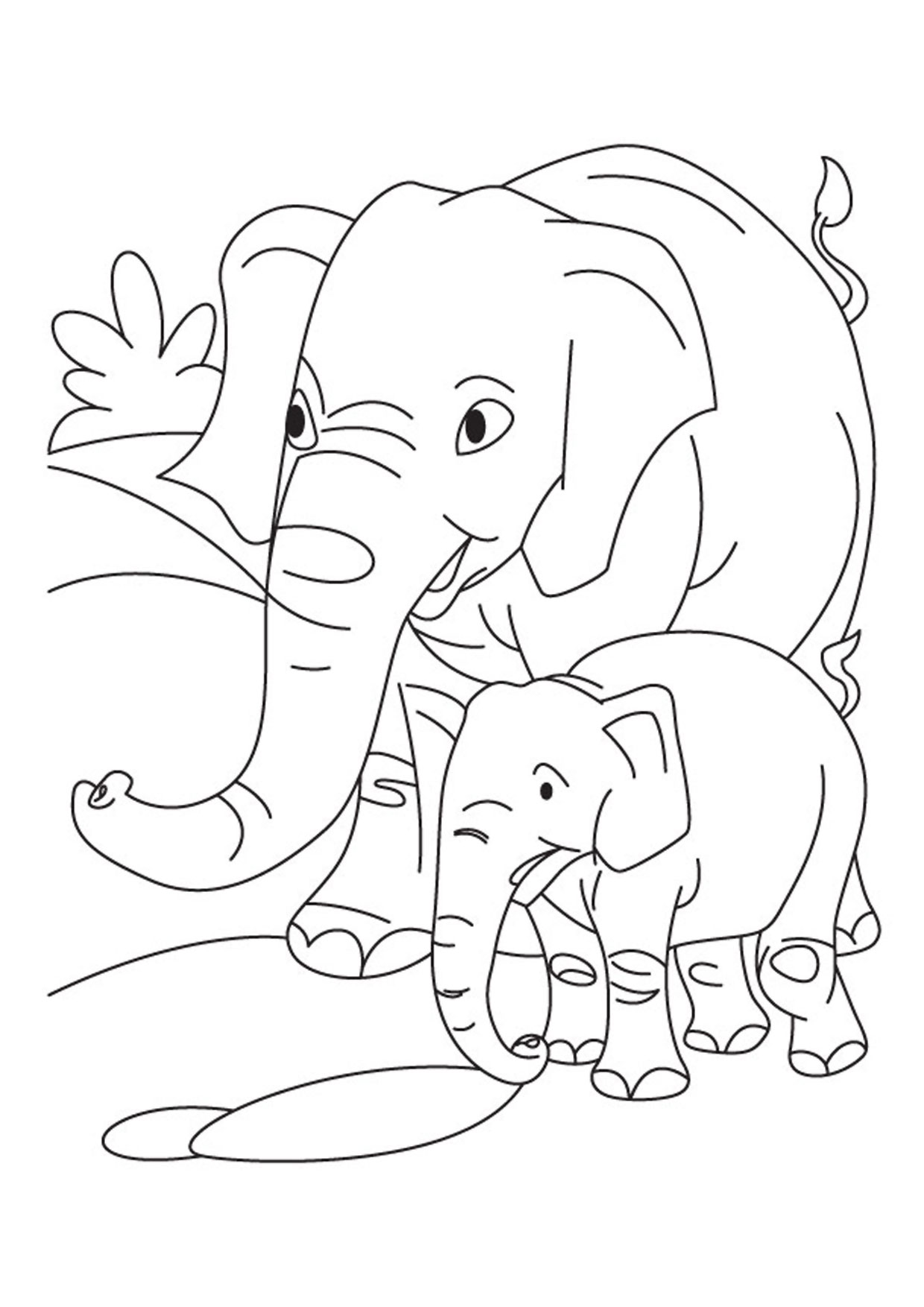 Disegno di elefanti da colorare 29