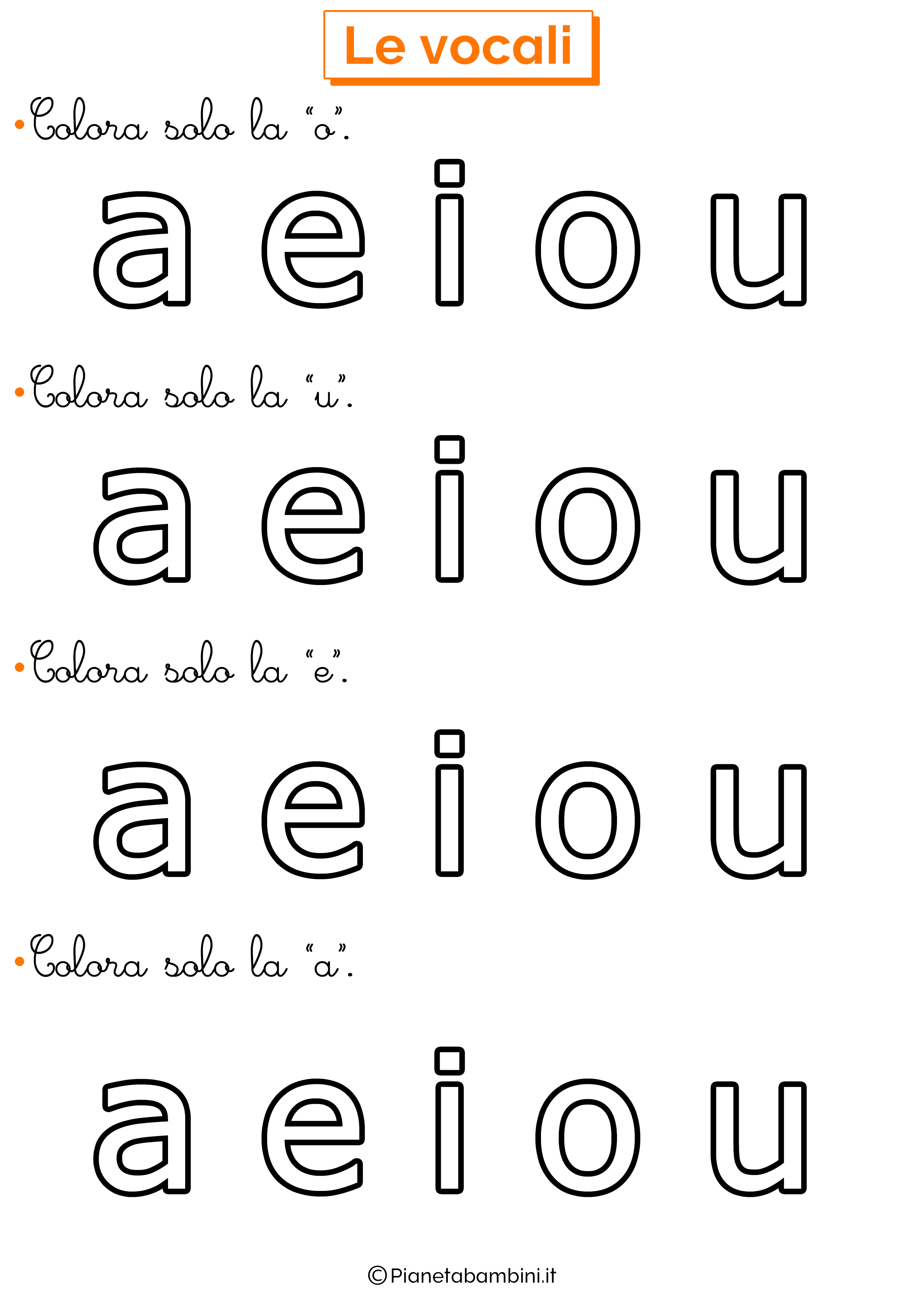 Colora Vocali 4