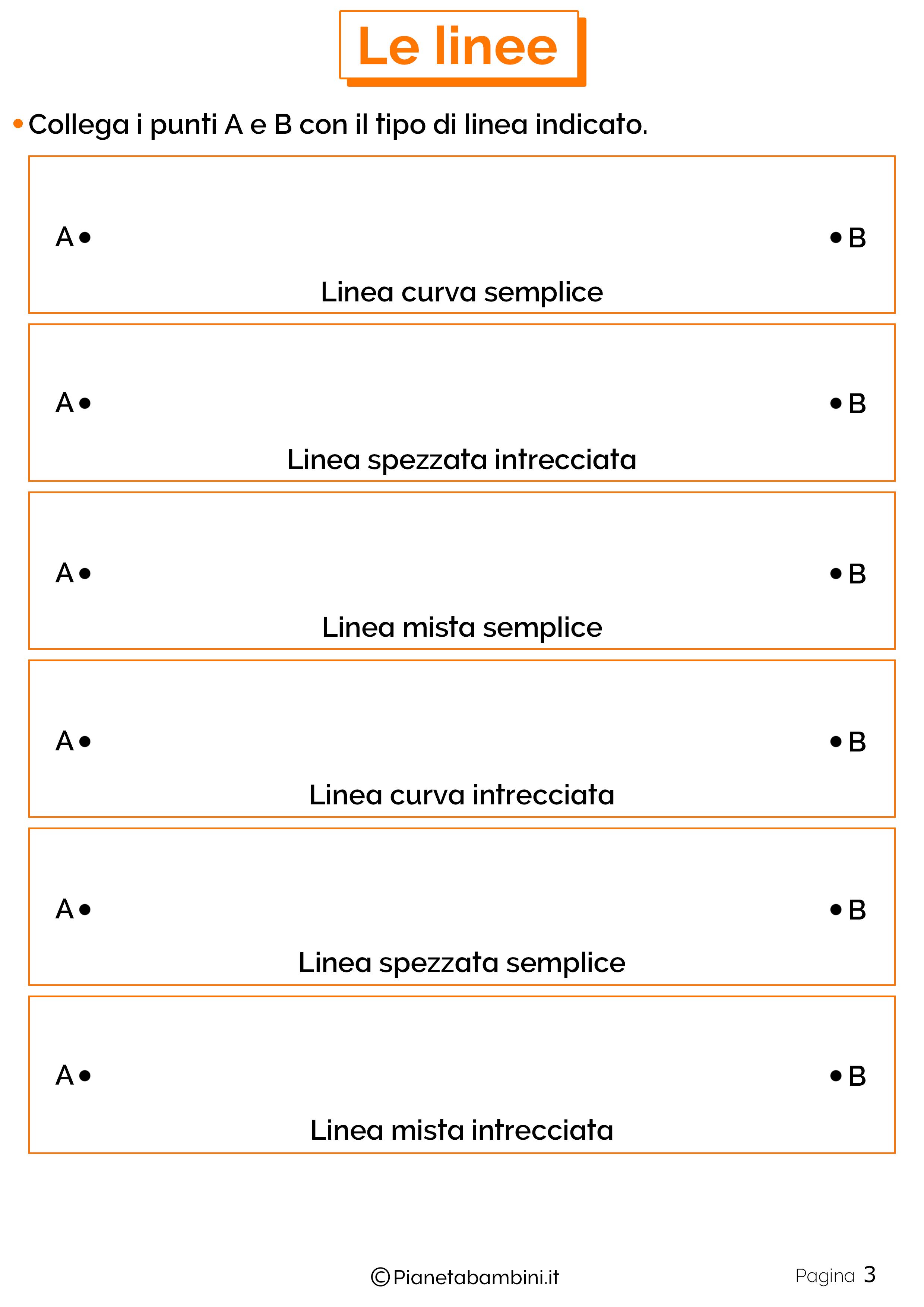 Schede didattiche linee 3
