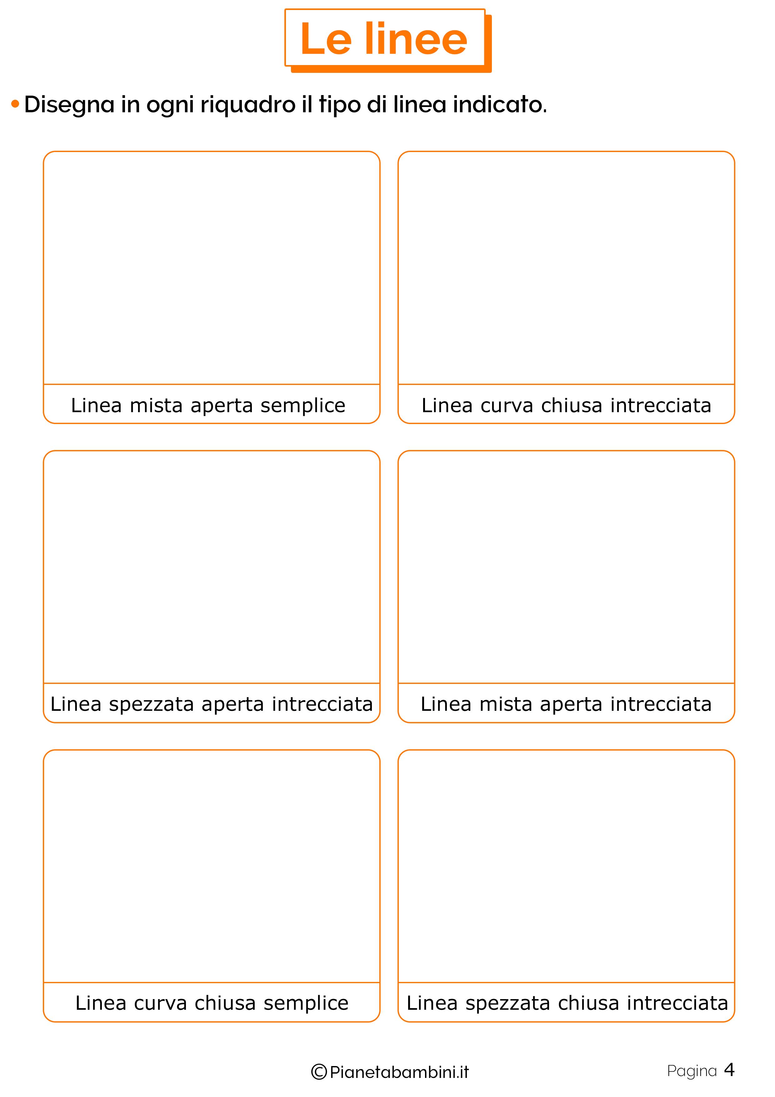 Schede didattiche linee 4