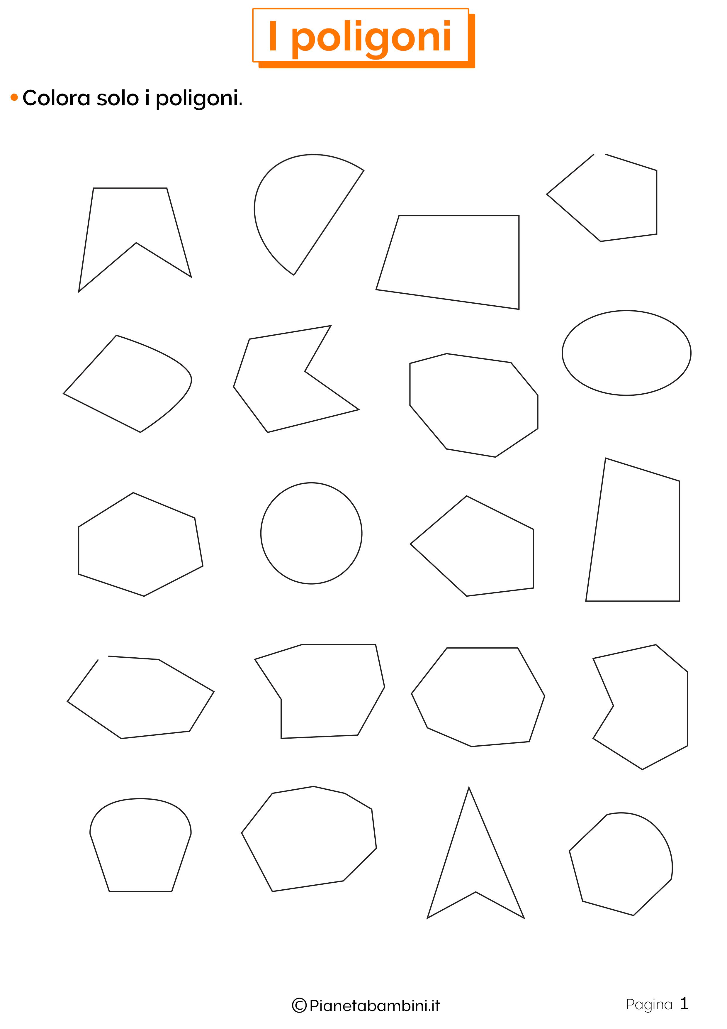 Esercizi sui poligoni da stampare 1