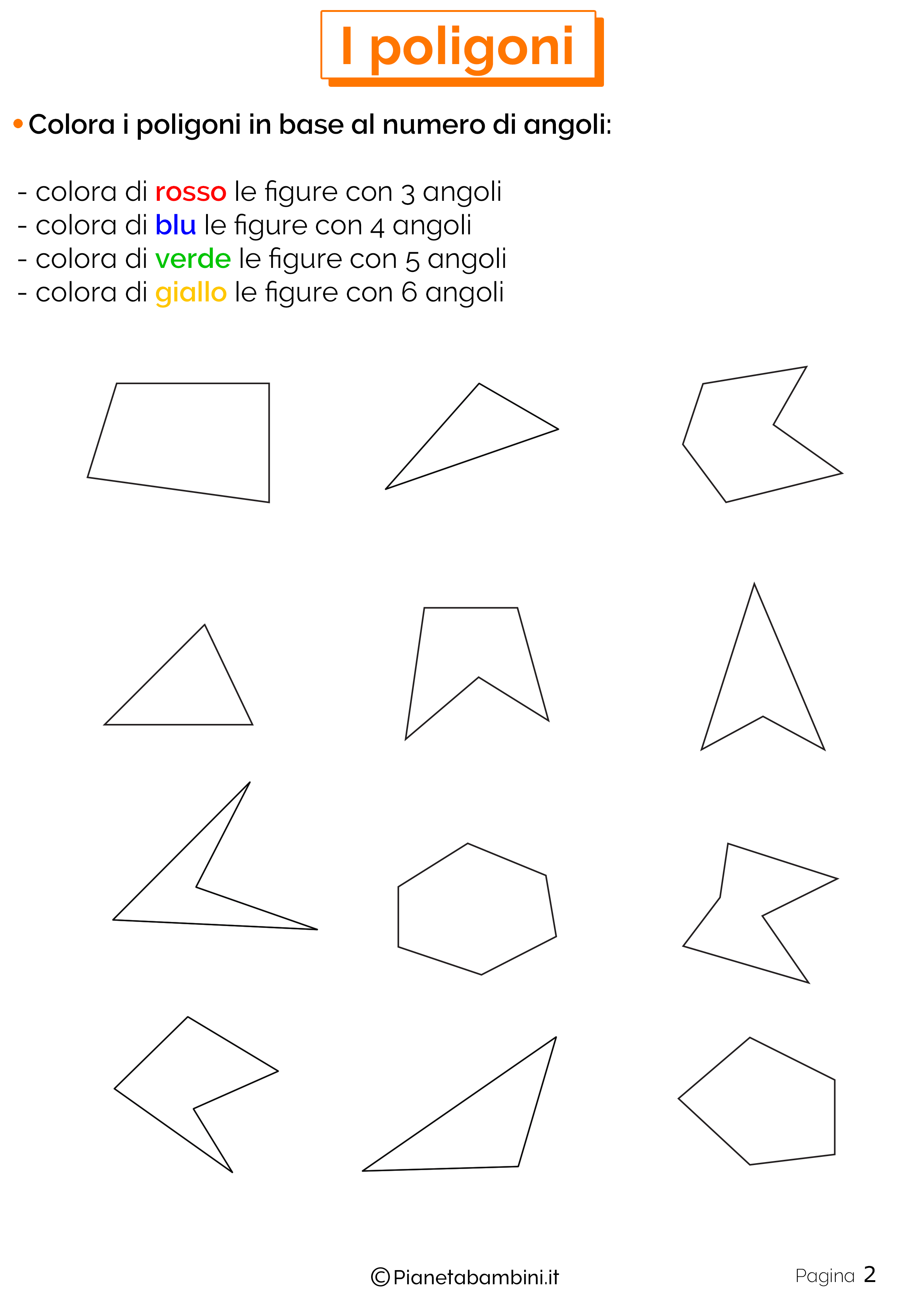 Esercizi sui poligoni da stampare 2
