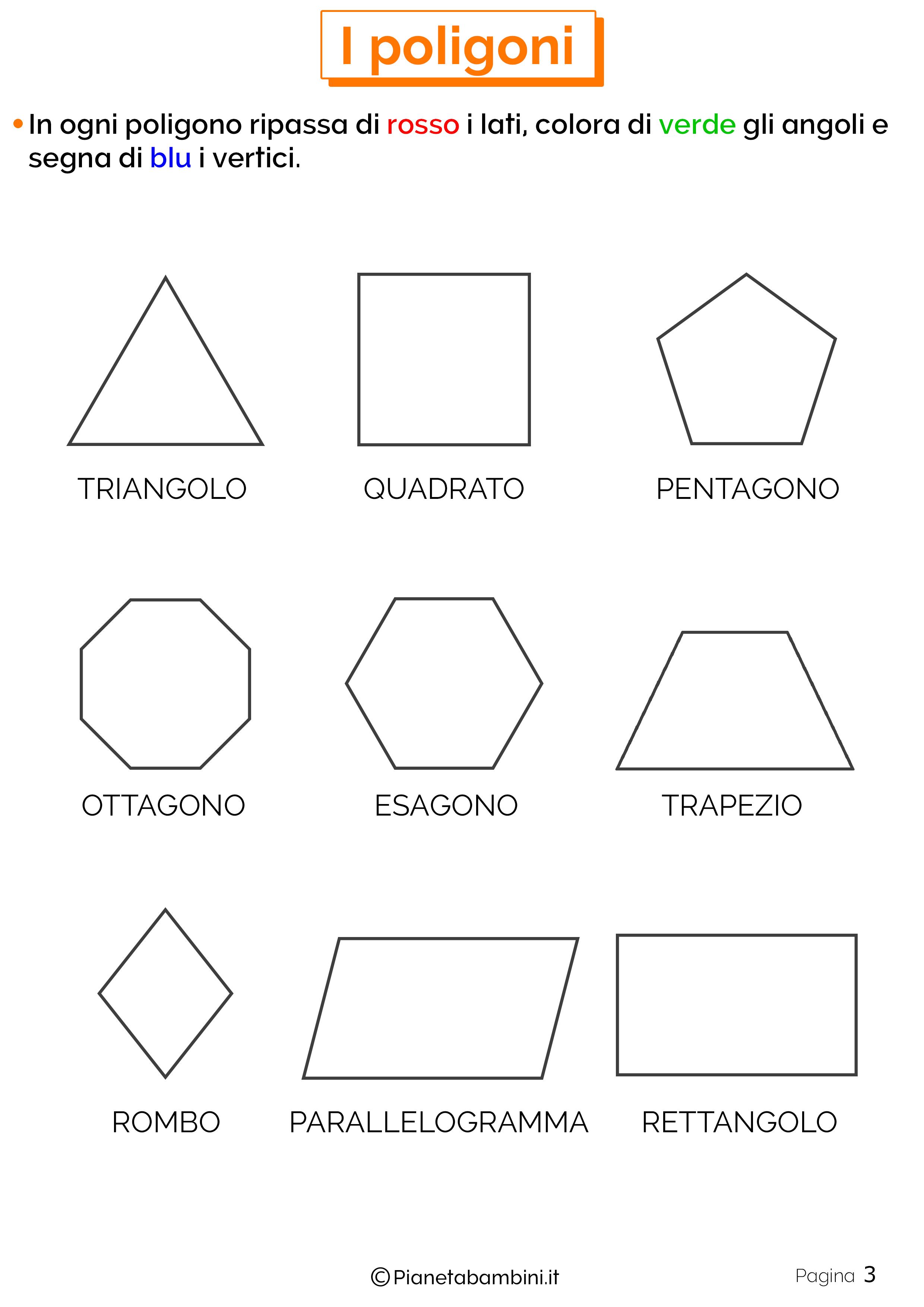 Esercizi sui poligoni da stampare 3