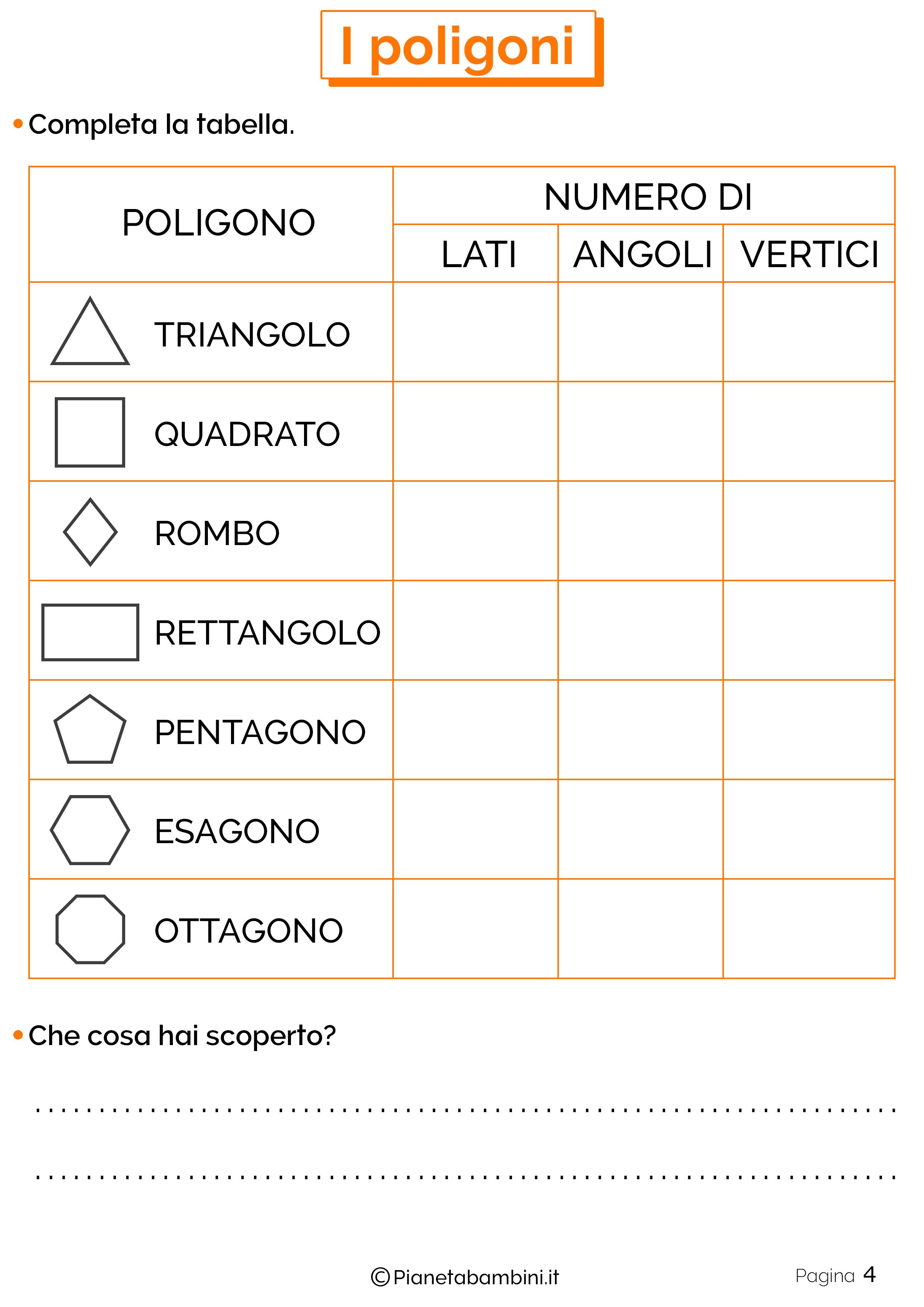 Esercizi sui poligoni da stampare 4