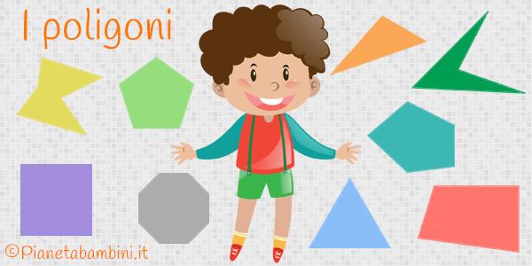 Esercizi sui poligoni per la scuola primaria da stampare gratis