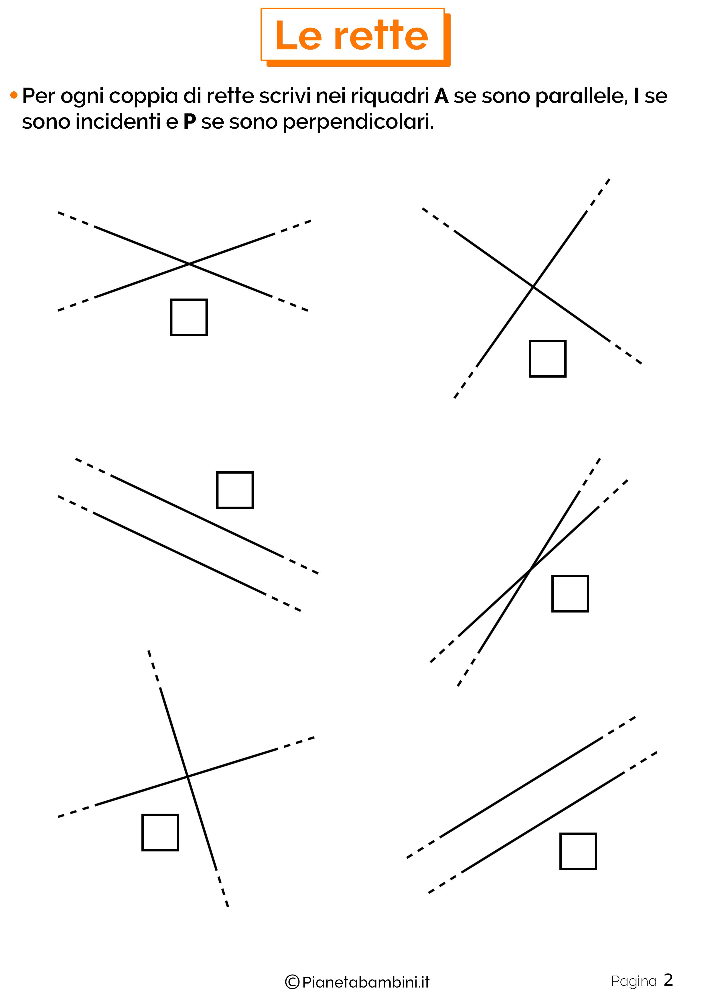 Schede didattiche sulle rette 2