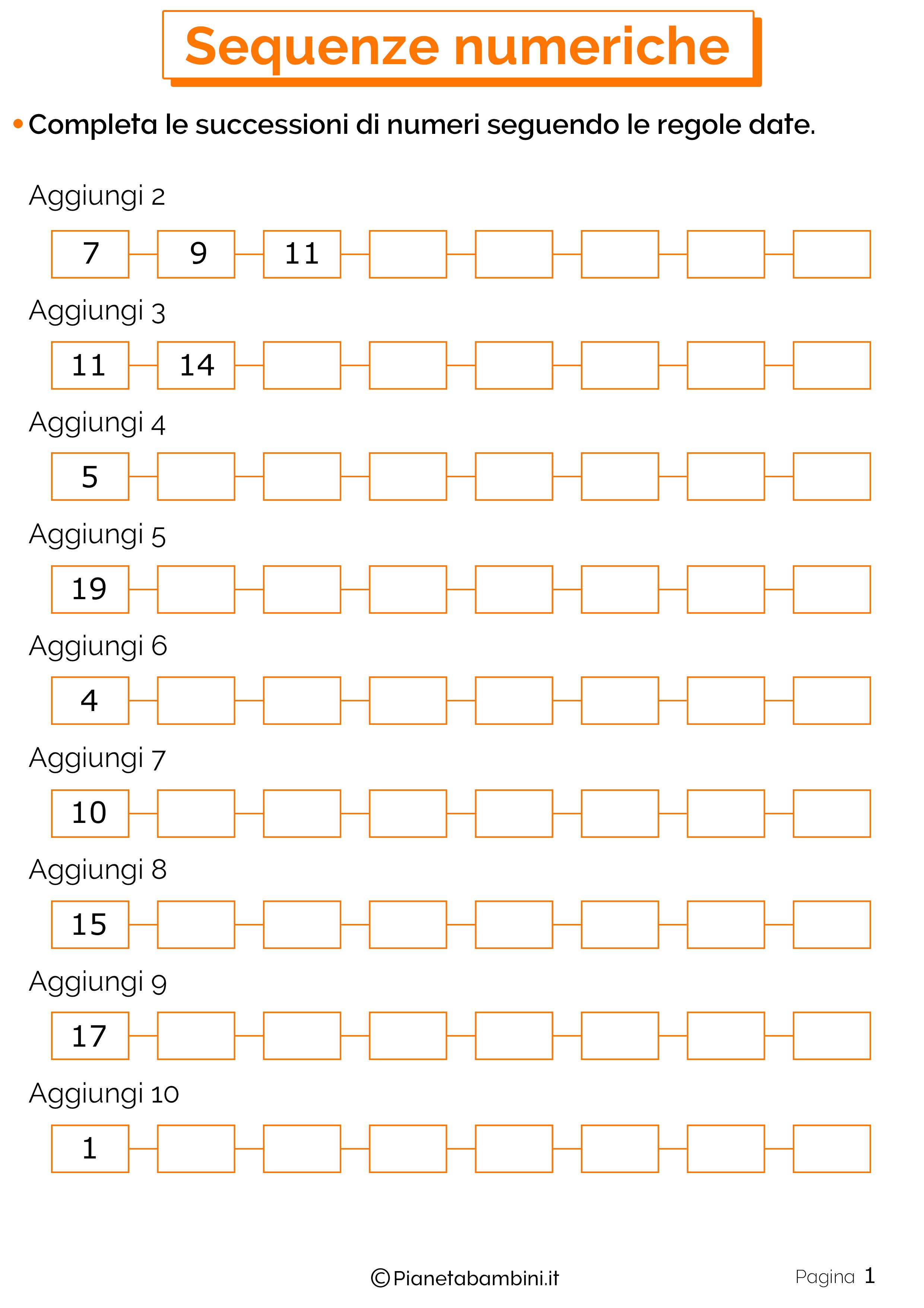Sequenze Numeriche 1
