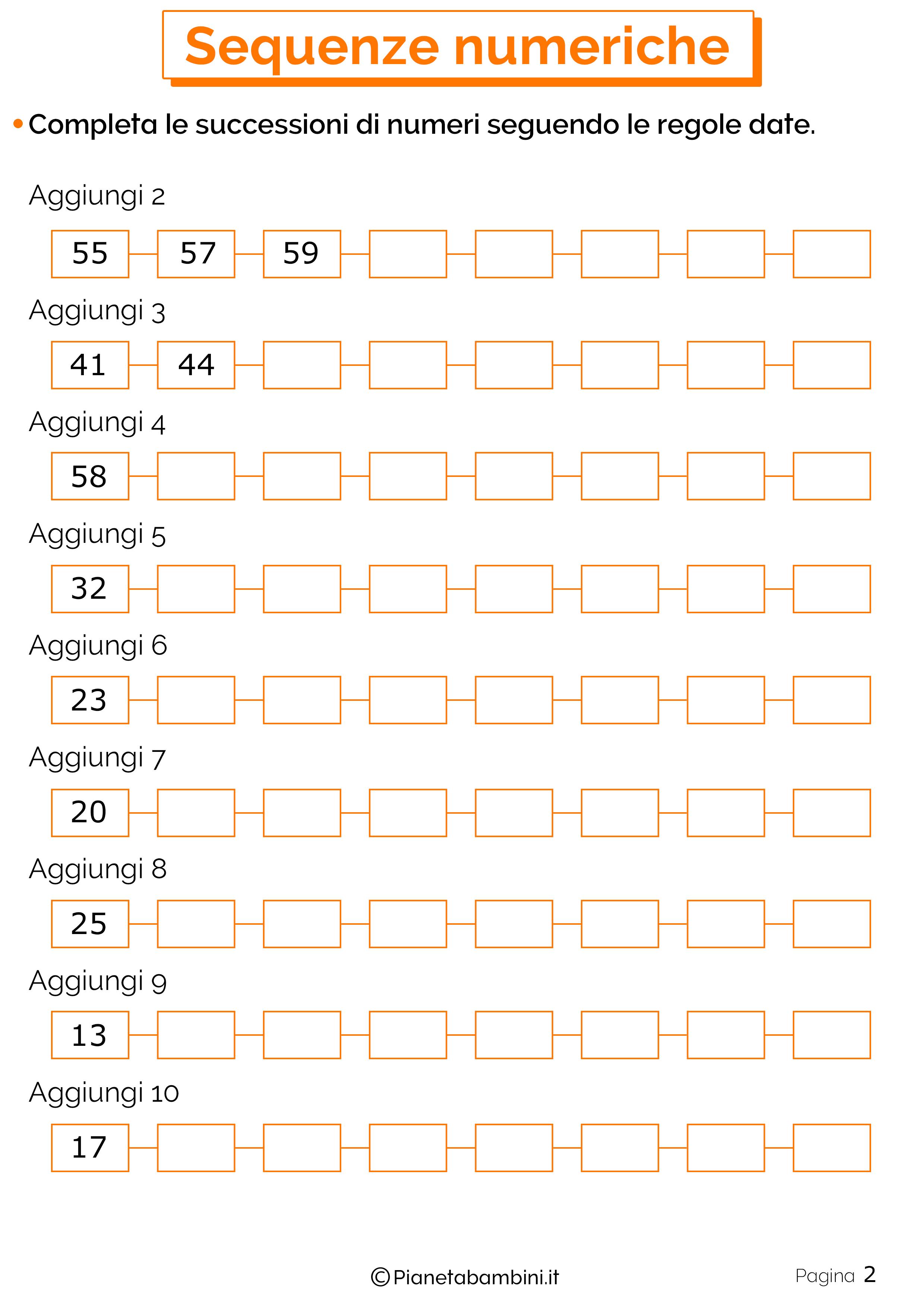 Sequenze Numeriche 2
