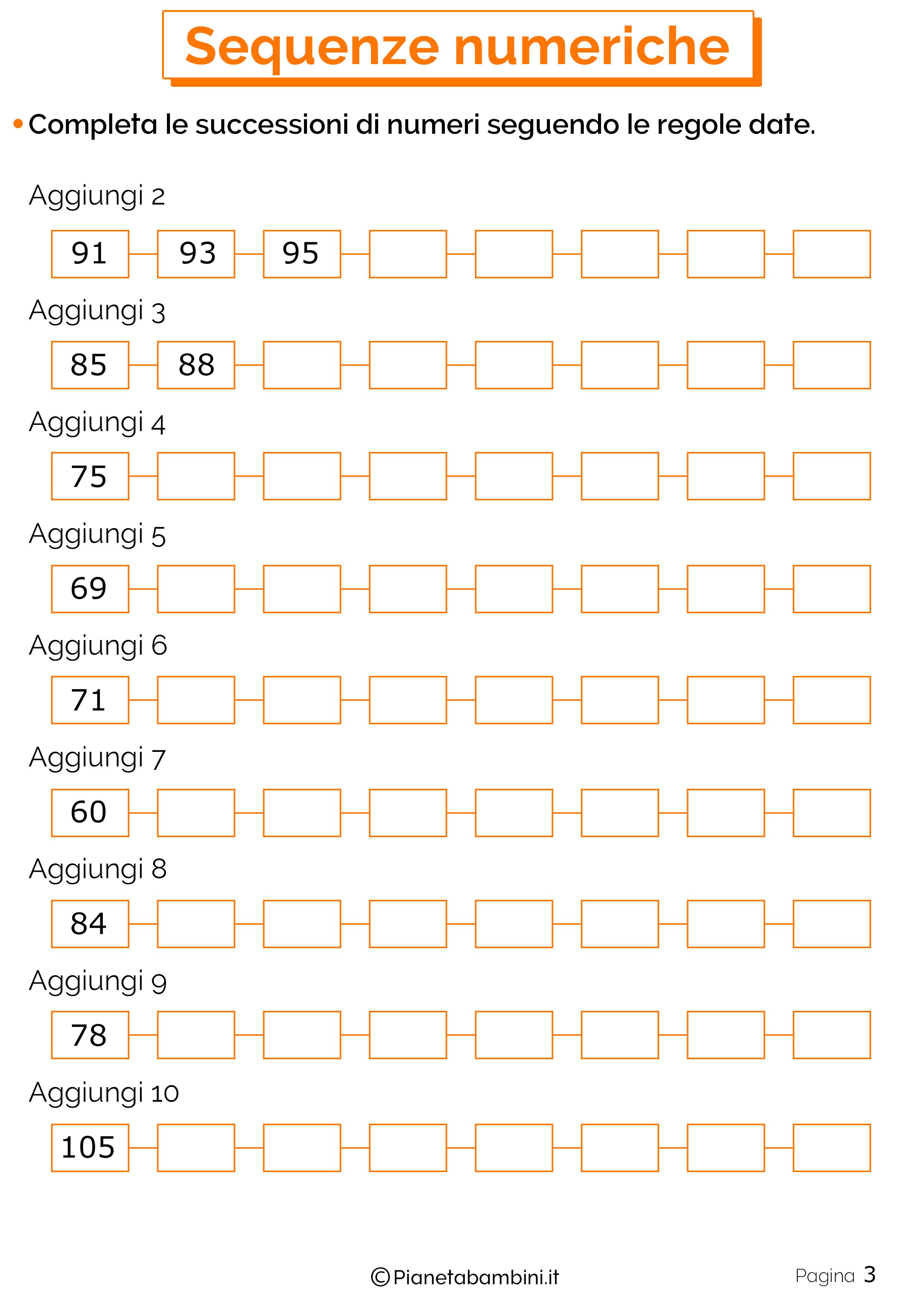 Sequenze Numeriche 3