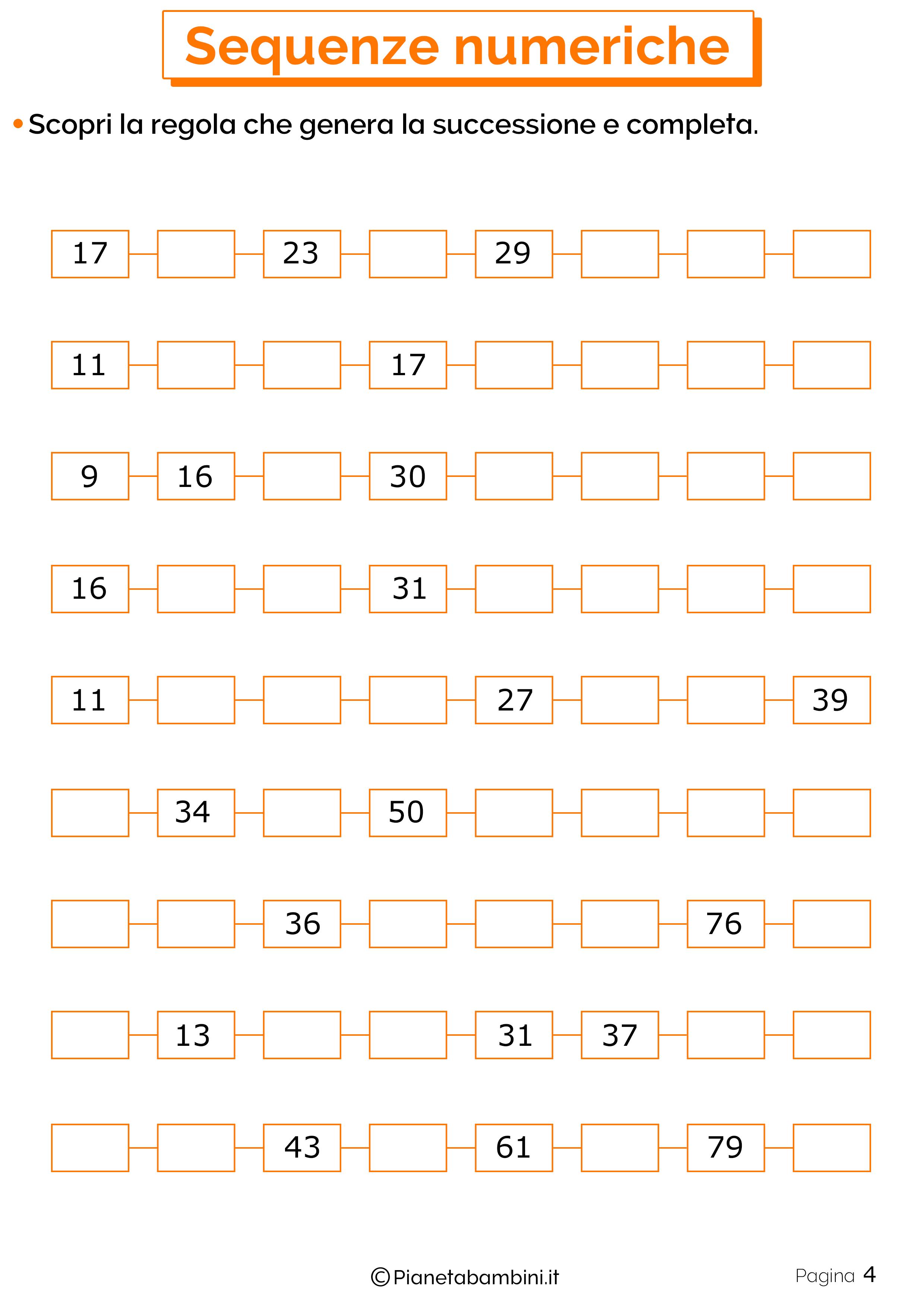 Sequenze Numeriche 4