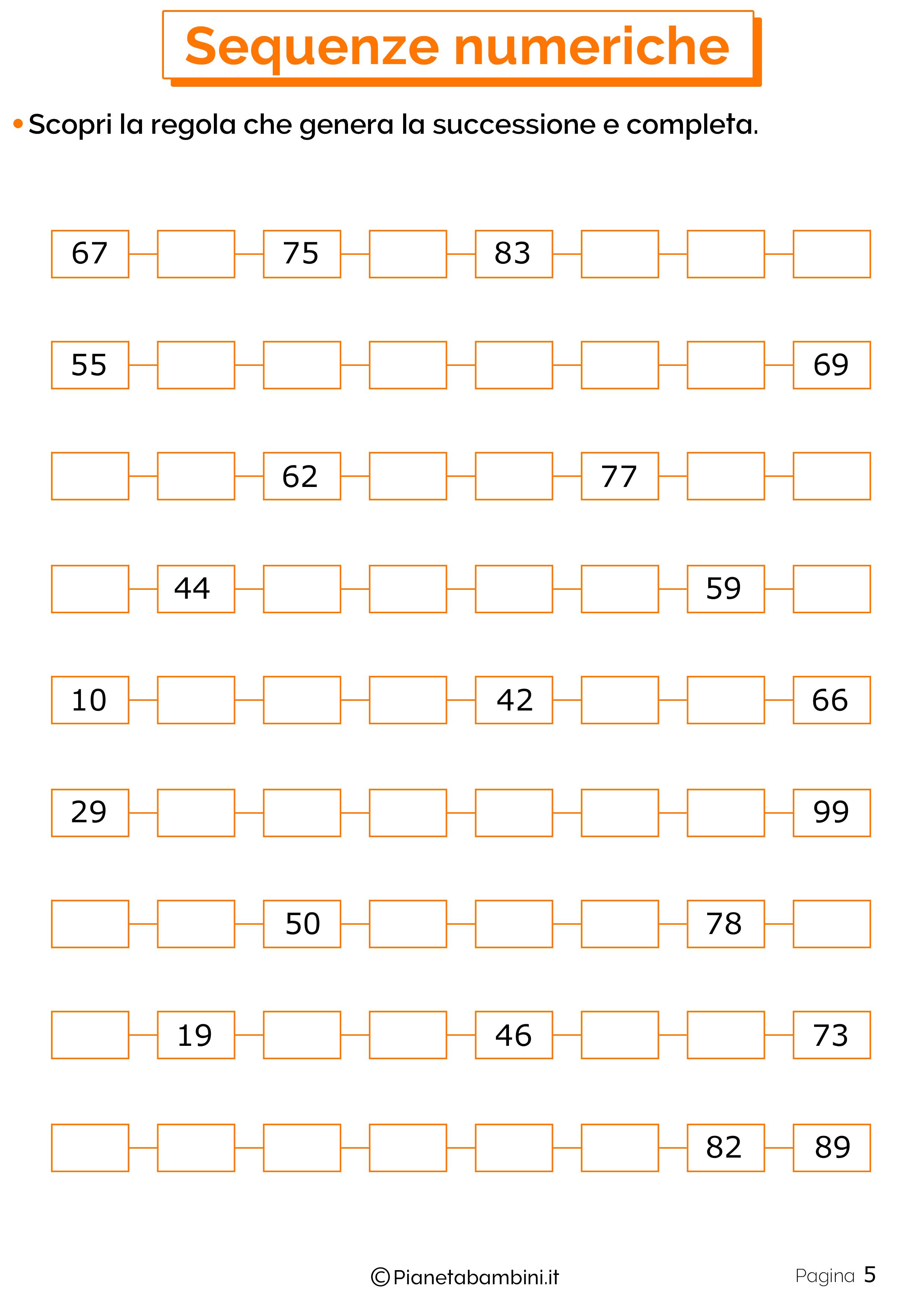 Sequenze Numeriche 5