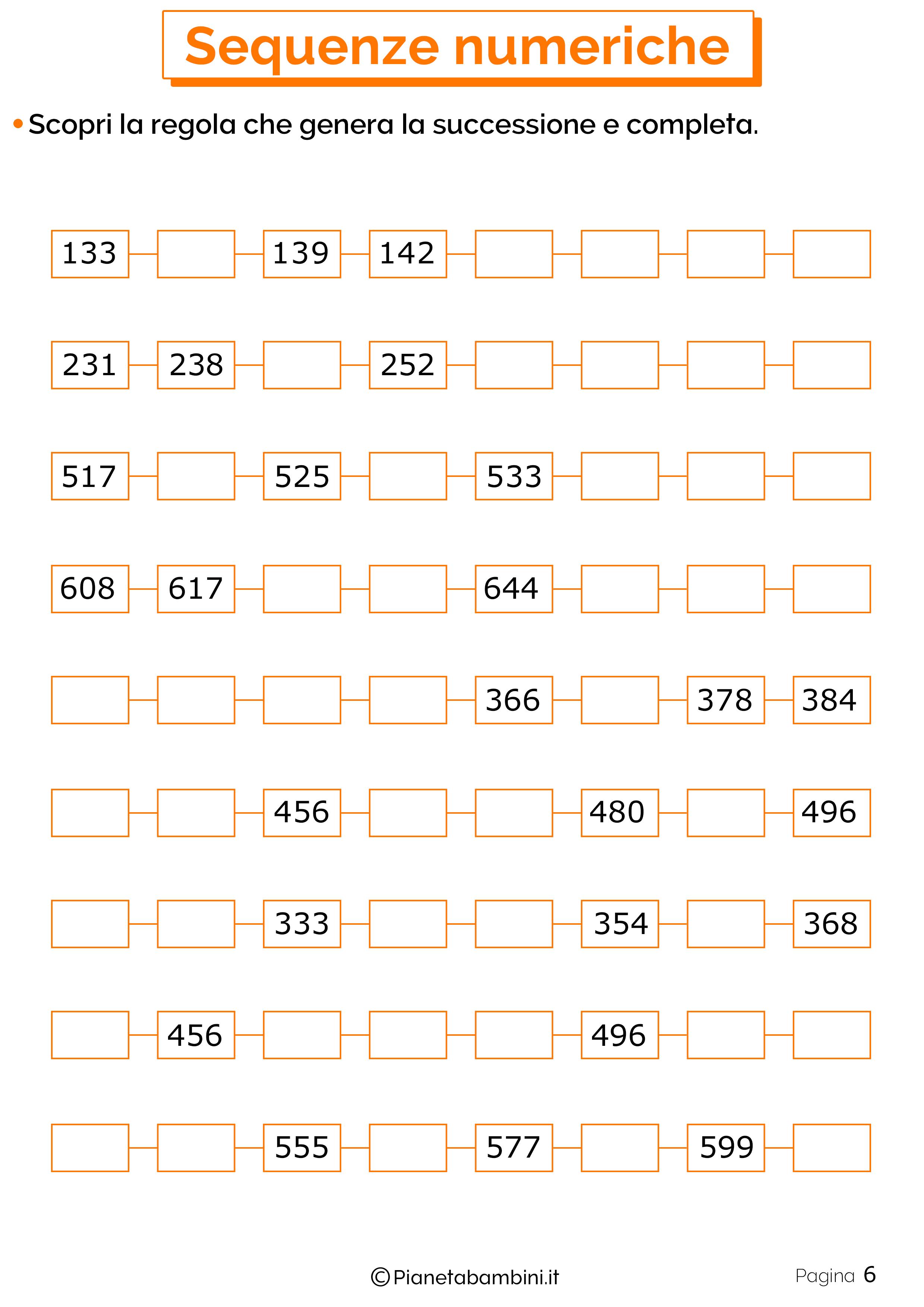 Sequenze Numeriche 6