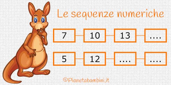 Esercizi sulle sequenze numeriche da stampare gratis