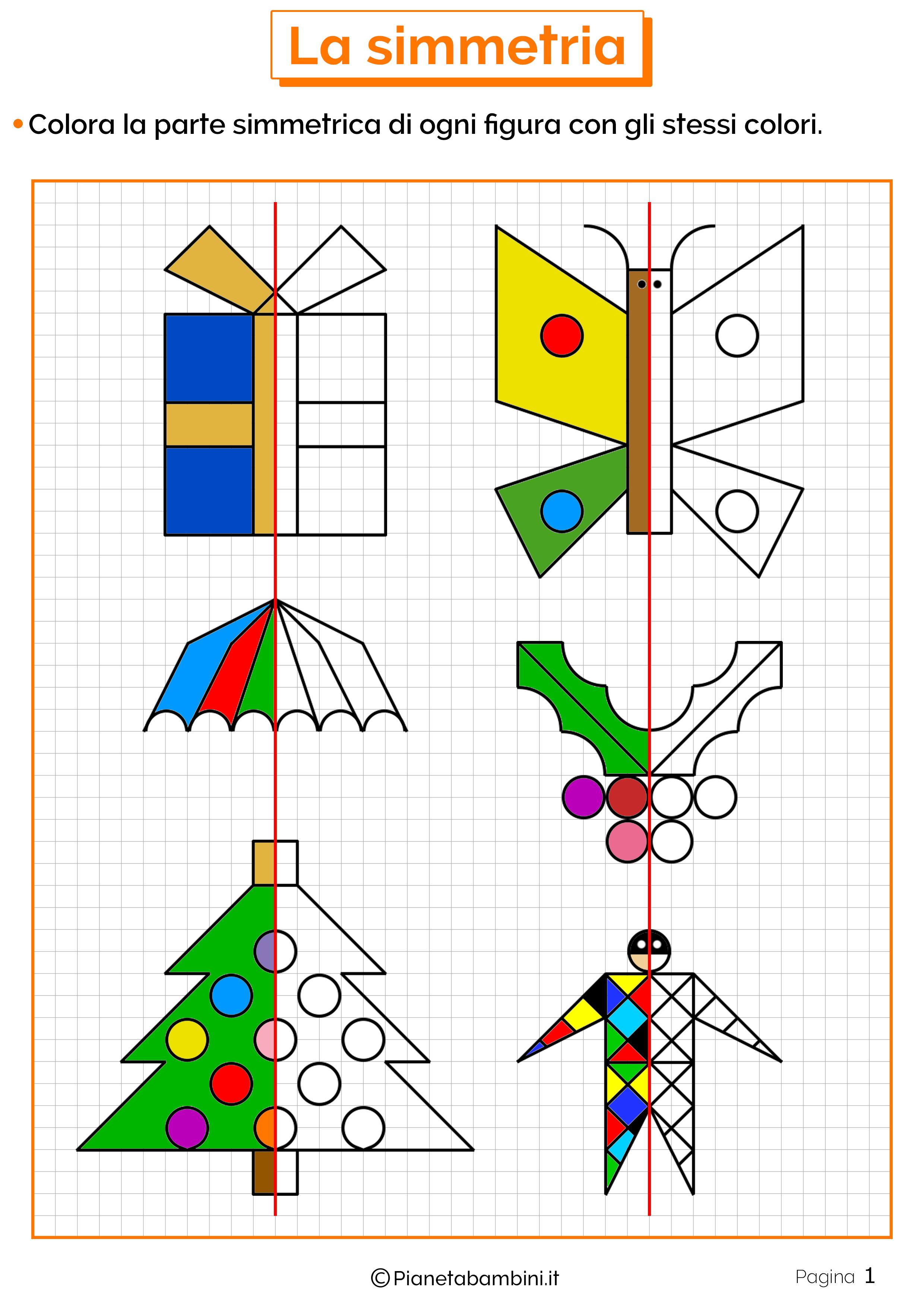Schede didattiche sulla simmetria 1