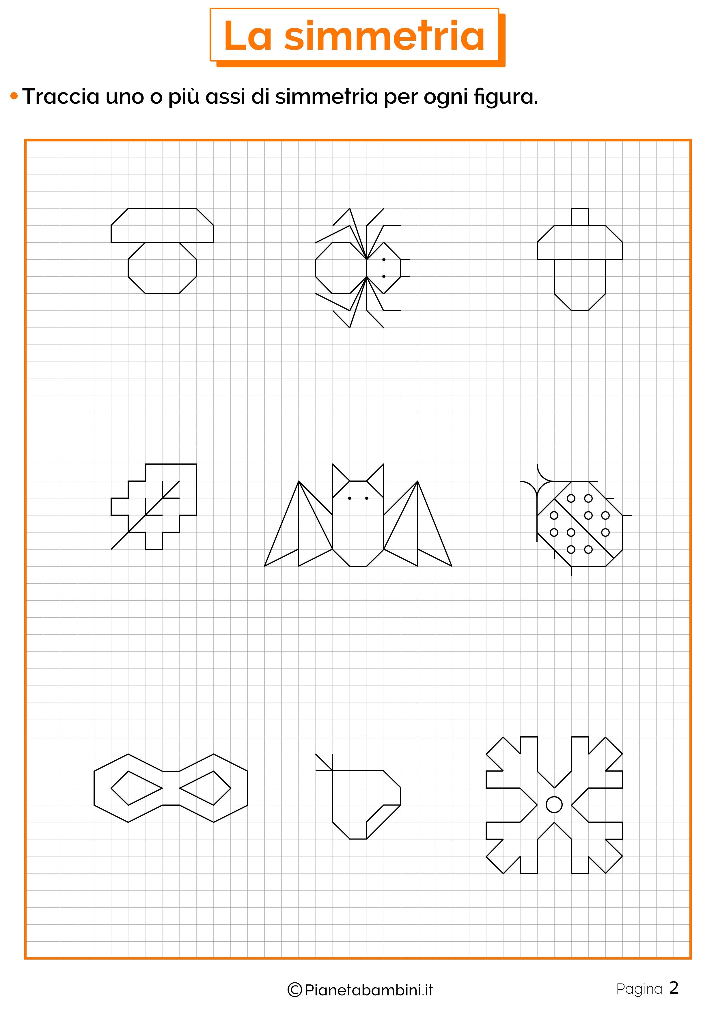 Schede didattiche sulla simmetria 2